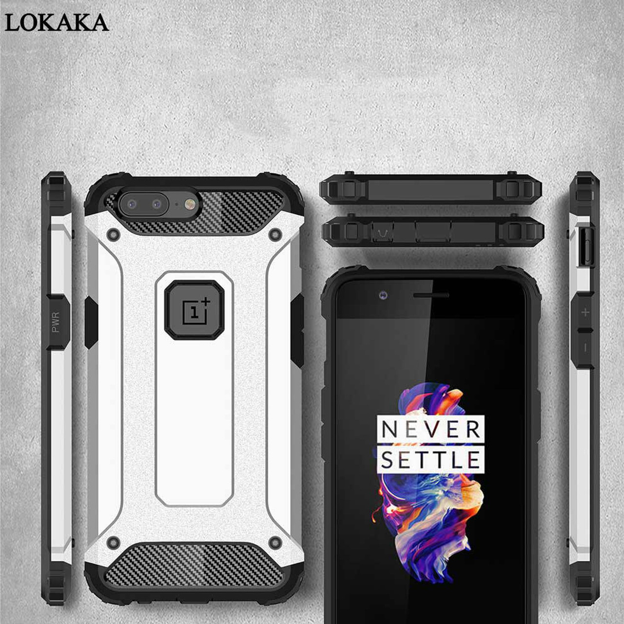 brand new ae1c1 e710e LOKAKA Case For Oneplus 6 6t 5t Back Cover Oneplus5t Full Protect Phone Bag  Cases One plus 6t Luxury Armor For Oneplus 5 Coque