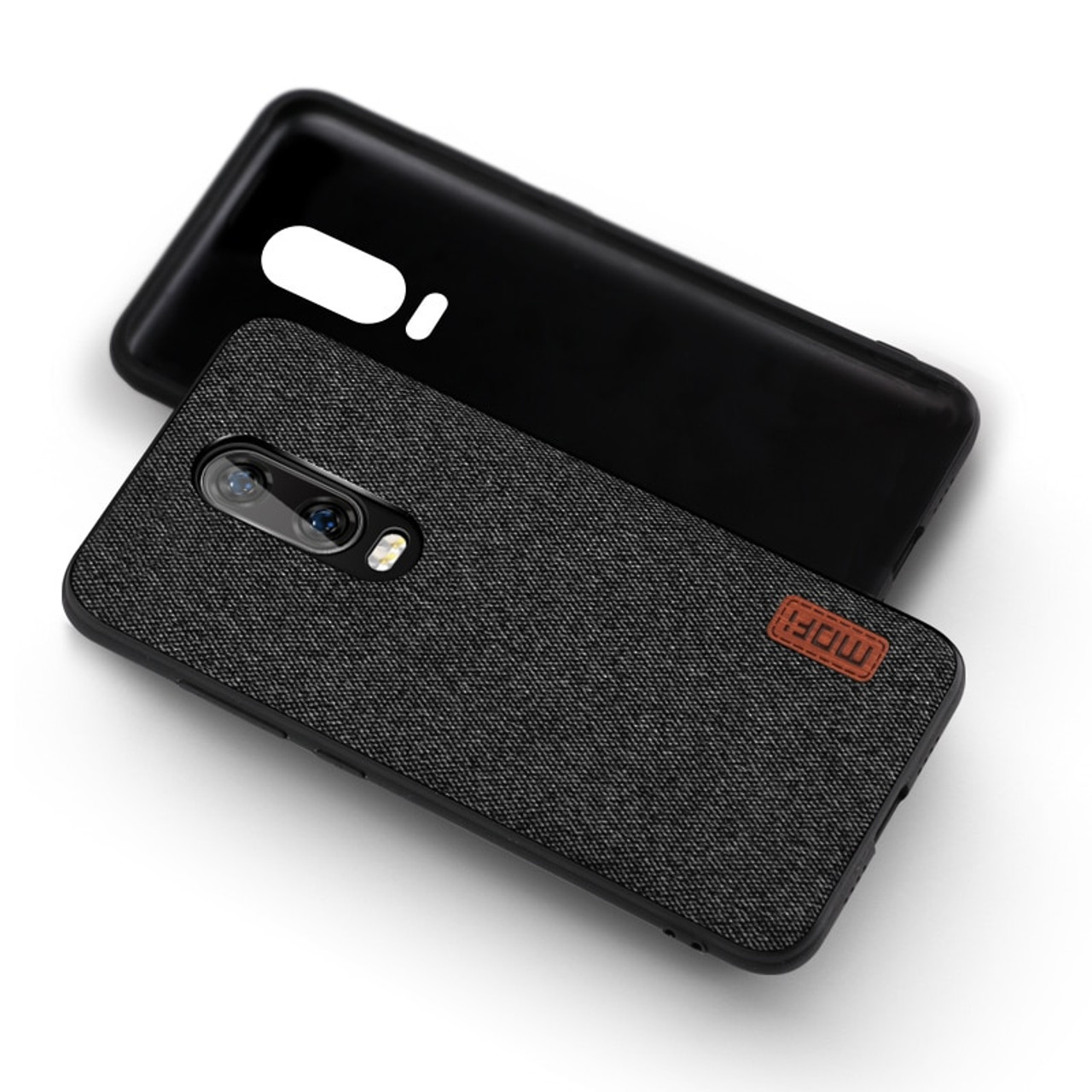 new concept 300b0 ef6ca oneplus 6t Case Cover MOFI One Plus 6T Back Fabric Case for 1+6T Full Cover  Soft silicone edge Case OP6T Hard Frosted Case