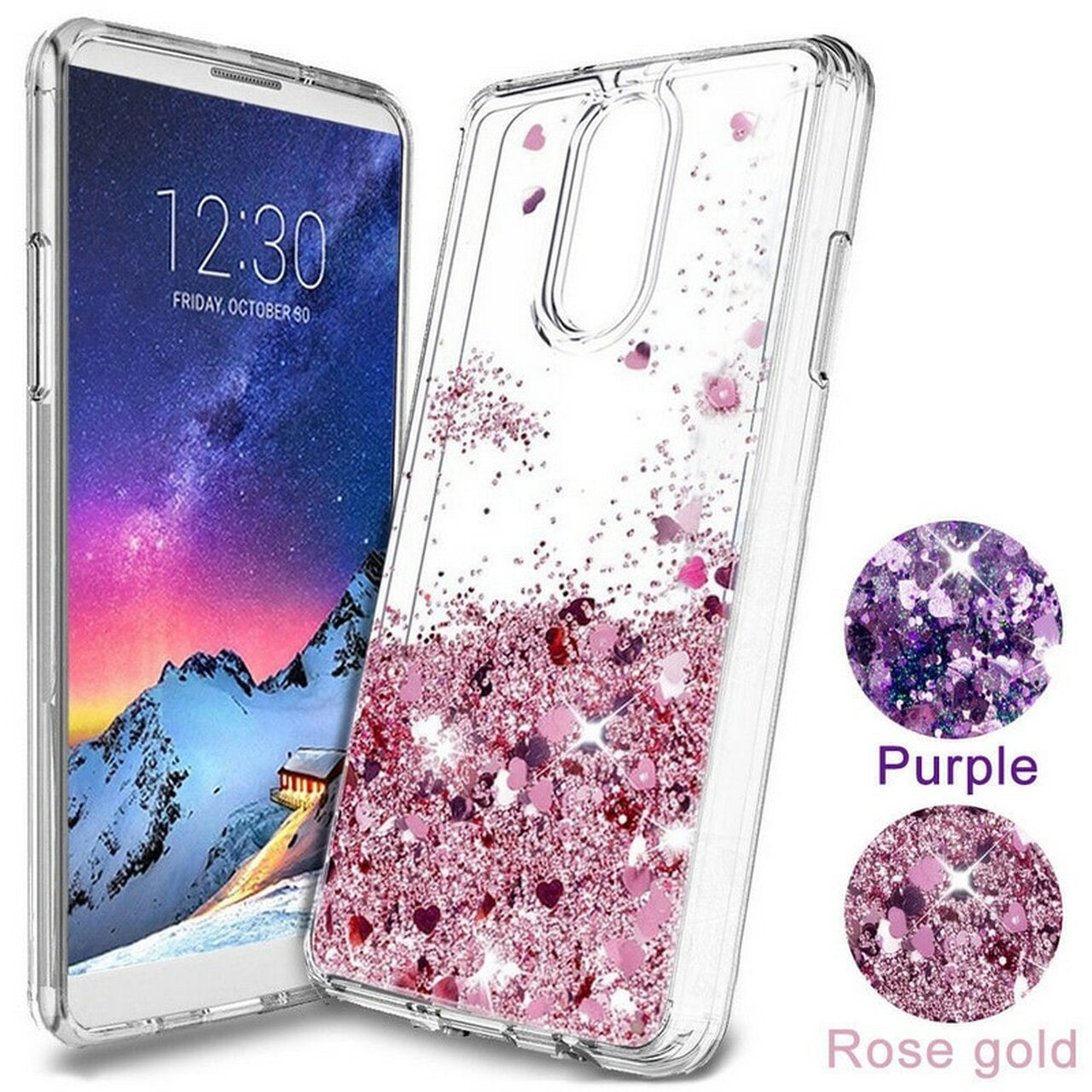 promo code d9c5d 2689e Phone Case For Oneplus 6 6T 5T Glitter Stars Heart Liquid Quicksand Case  Soft Silicon Clear Back Cover for One Plus 5 5T 6 Shell
