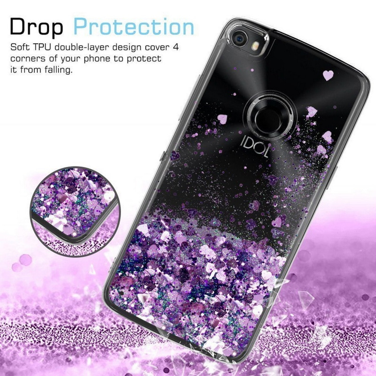 Phone Case For Oneplus 6 6T 5T Glitter Stars Heart Liquid Quicksand Case  Soft Silicon Clear Back Cover for One Plus 5 5T 6 Shell