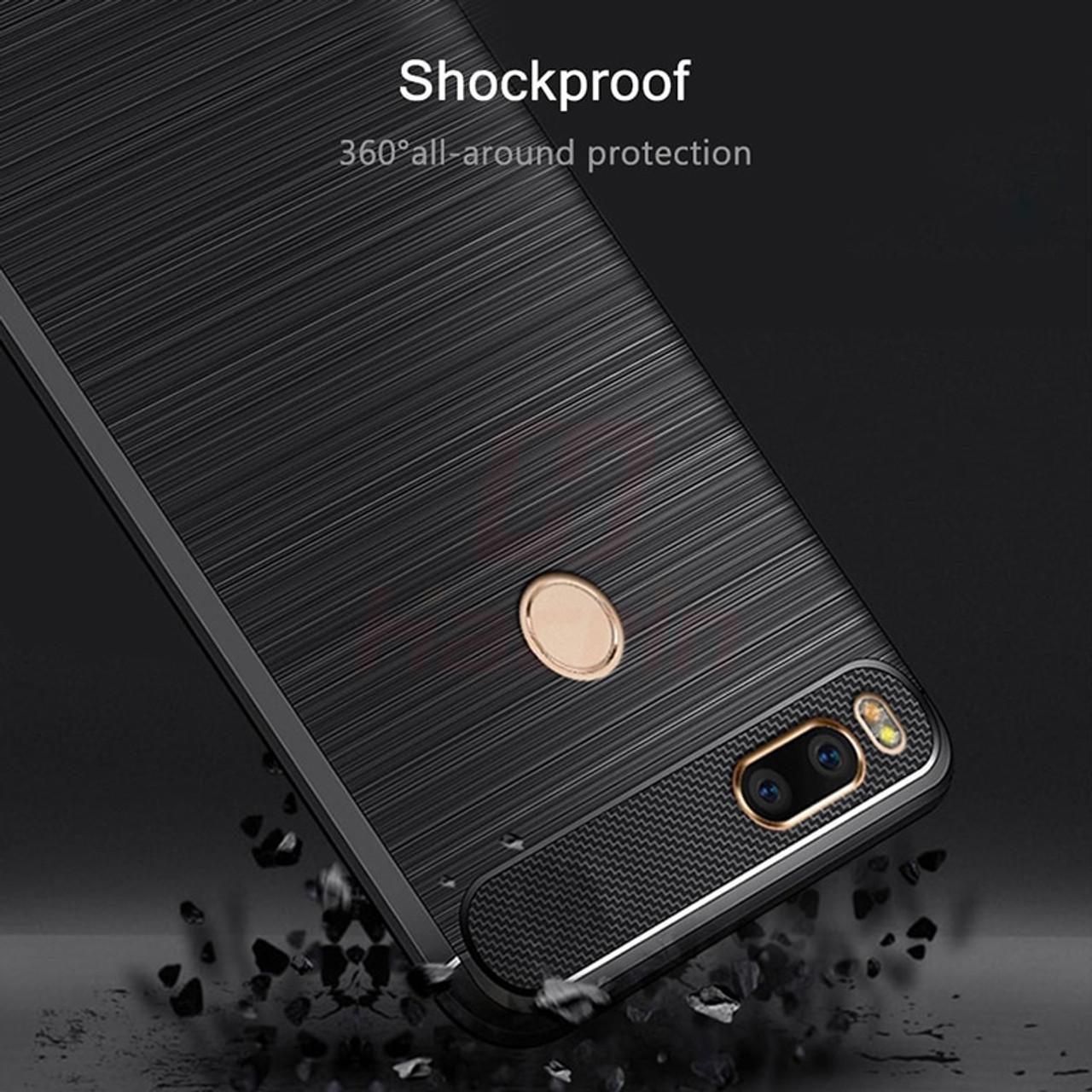 xiaomi mi a1 case Carbon Fiber Protective TPU Silicone Back Cover For  Xiaomi Mi5X Mi 5X MiA1 4GB 32GB 64GB
