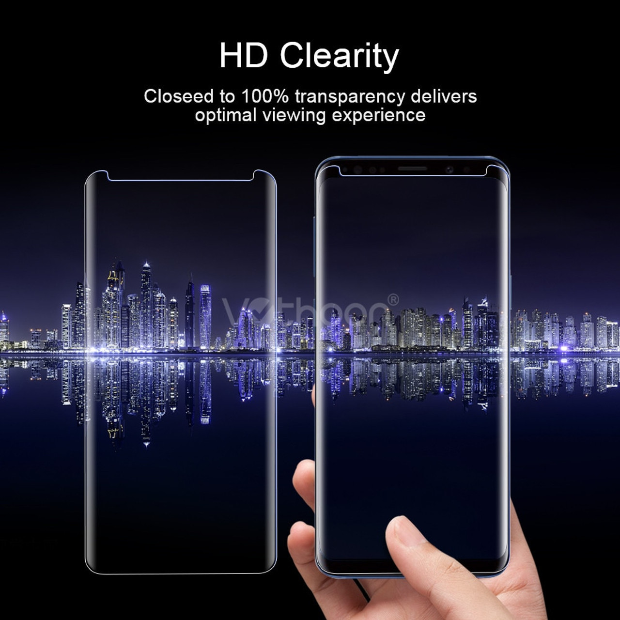 fa688f44cde ... VOTHOON 6D UV Glass For Samsung Galaxy S8 S9 Plus Curved edge Tempered  Protector Glass For ...