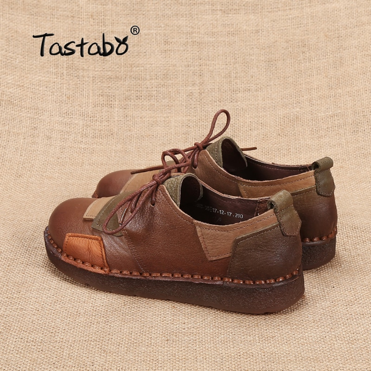 75f41f43b6 ... Tastabo Genuine Leather Flat Shoe Pregnant Women Shoe Mother Driving  Shoe Female Moccasins Women Flats Hand ...