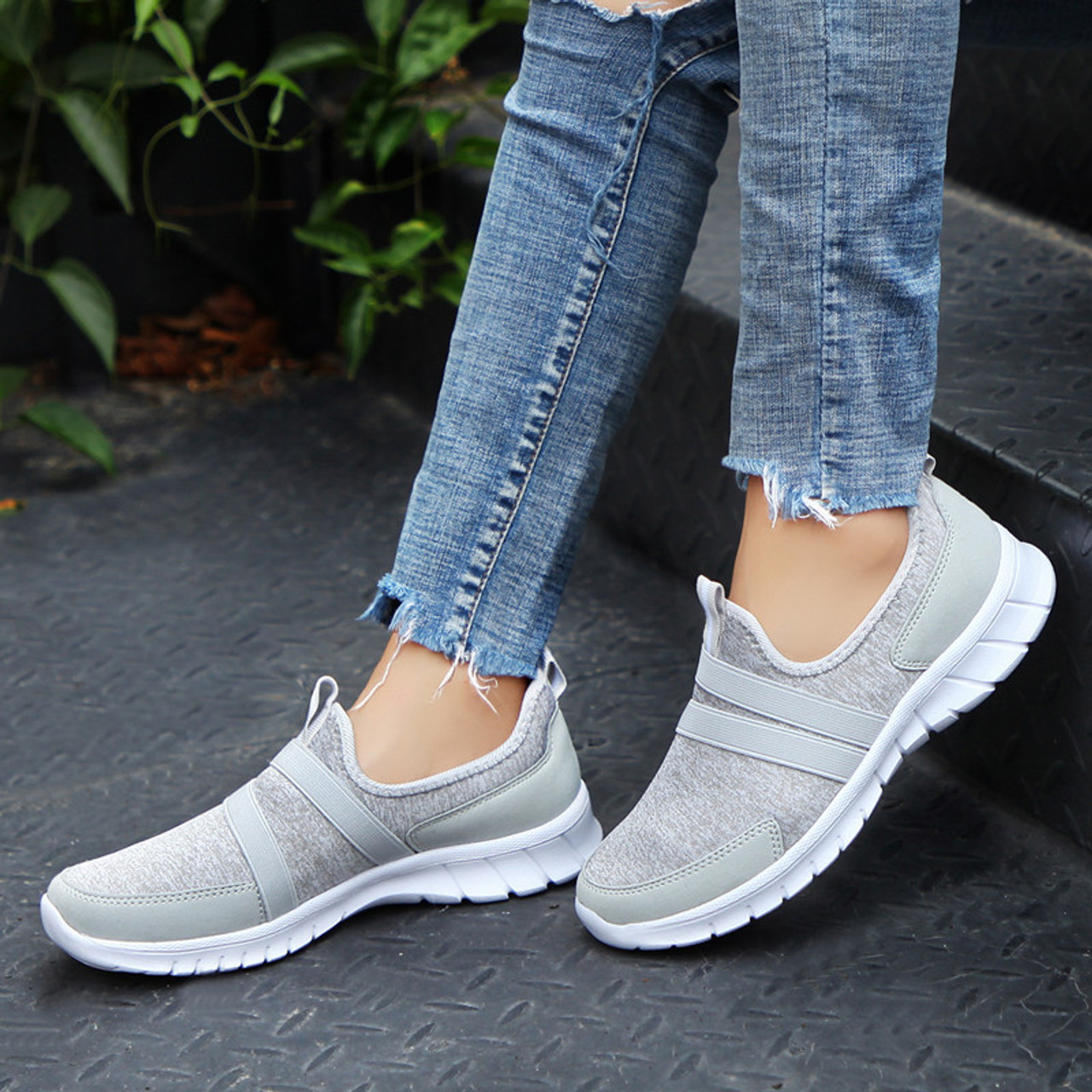 9b30e5902 ... PINSEN 2019 Autumn Sneakers Women Breathable Mesh Shoes Woman Ballet  Slip On Flats Loafers Ladies Shoes ...