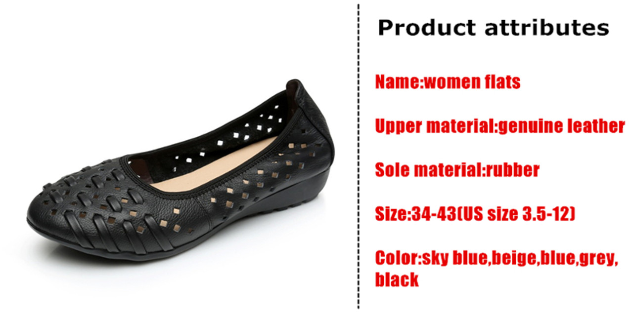 bbd21f824f7 ... DONGNANFENG Mother Women Shoes Old Flats Hollow Out Cow Genuine Leather  Slip On Loafers Casual Vintage ...
