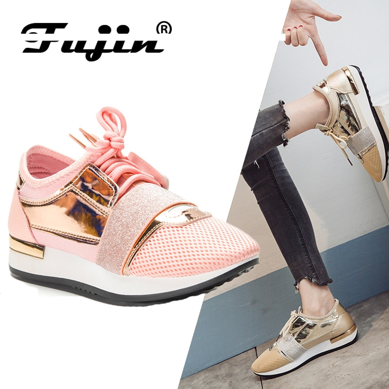 1112578335a ... Fujin New 2019 Spring Fashion Women Casual Shoes Pu Leather Platform  shoes Women Sneakers Ladies Trainers ...