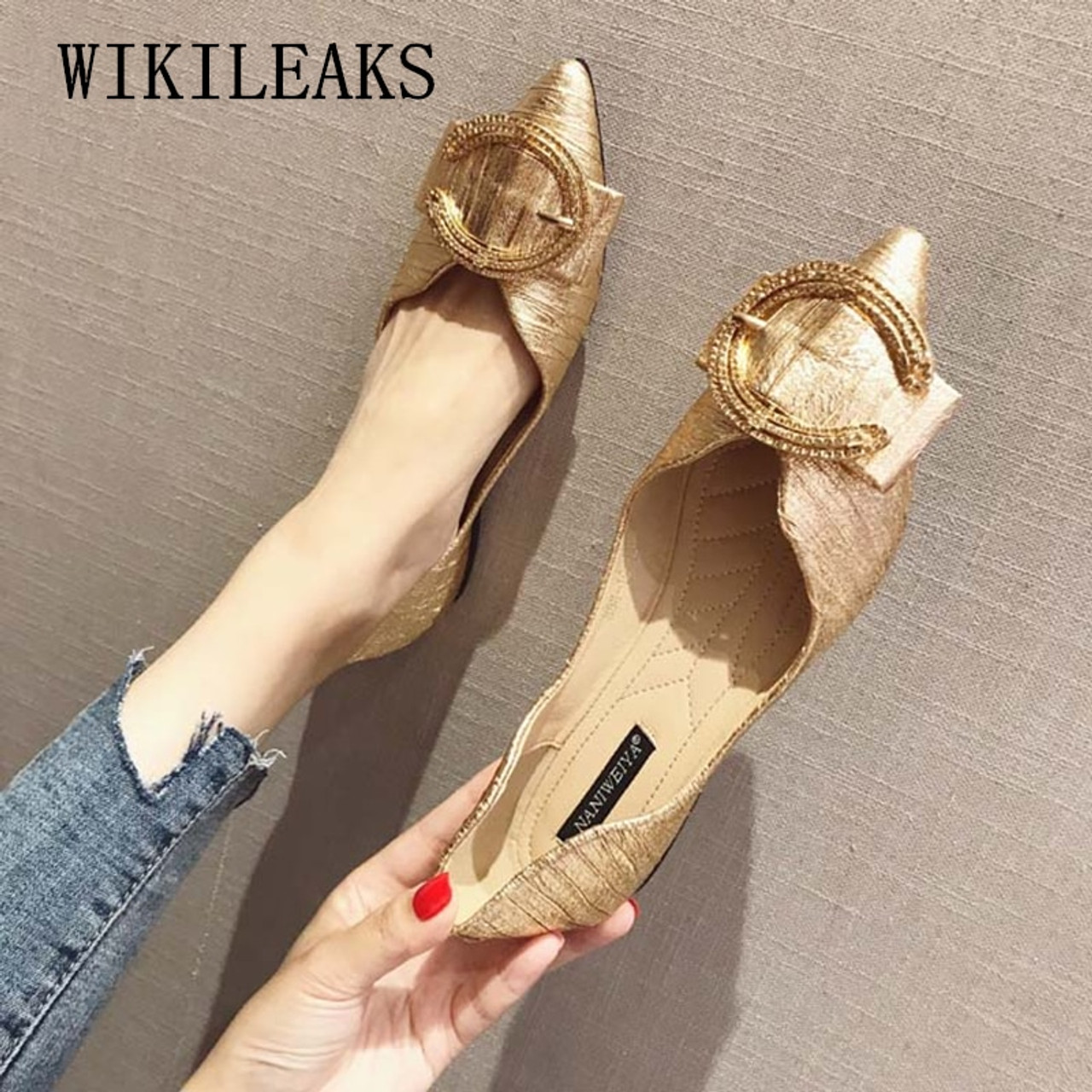 designer shoes women luxury 2018 flat shoes woman flats loafers women shoes  black gold red slip on shoes for women creepers - OnshopDeals.Com 4d8cb42d35ec