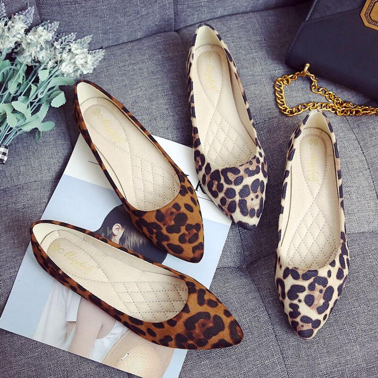 Women Flats Single Shoes Soft Leather