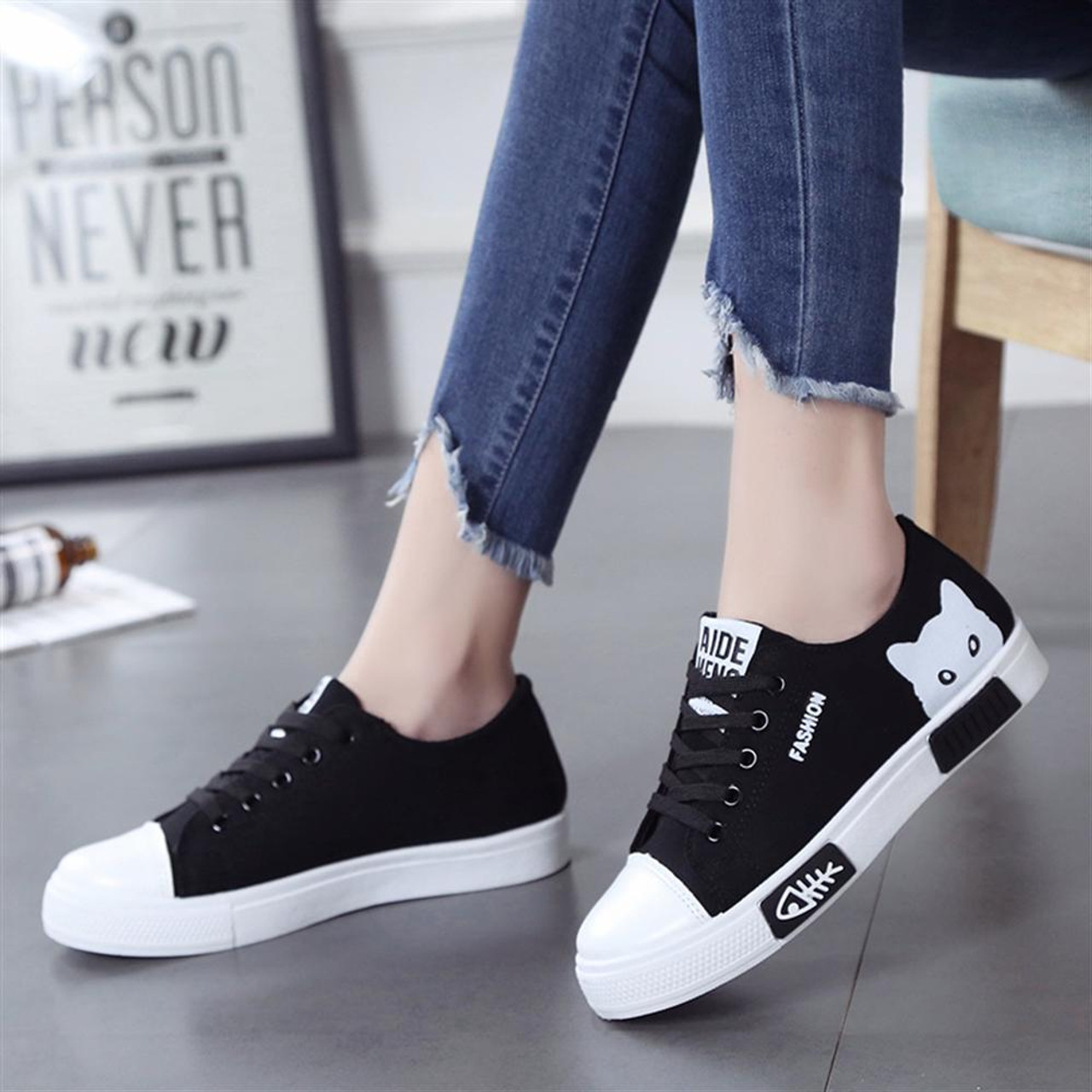 Spring Fall 2018 New Shoes Women Flats Lace-up Casual Canvas Shoes Women  Breathable White Platform tenis feminino - OnshopDeals.Com 74182abfd0d3