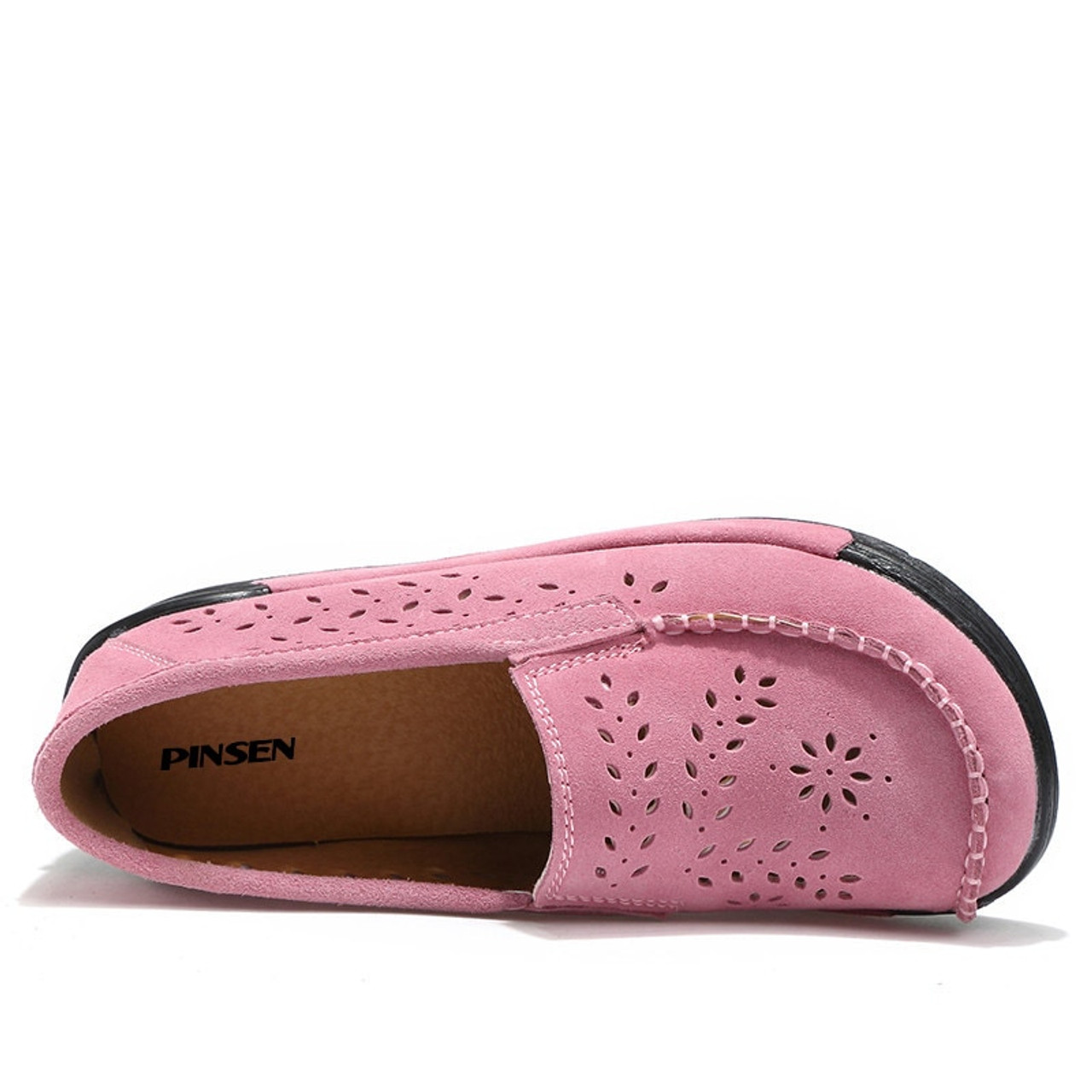 b9e259fd4bdb ... PINSEN Summer Women Casual Shoes Suede Leather Slip-On Women Flats  Platform Shoes Woman Moccasins ...