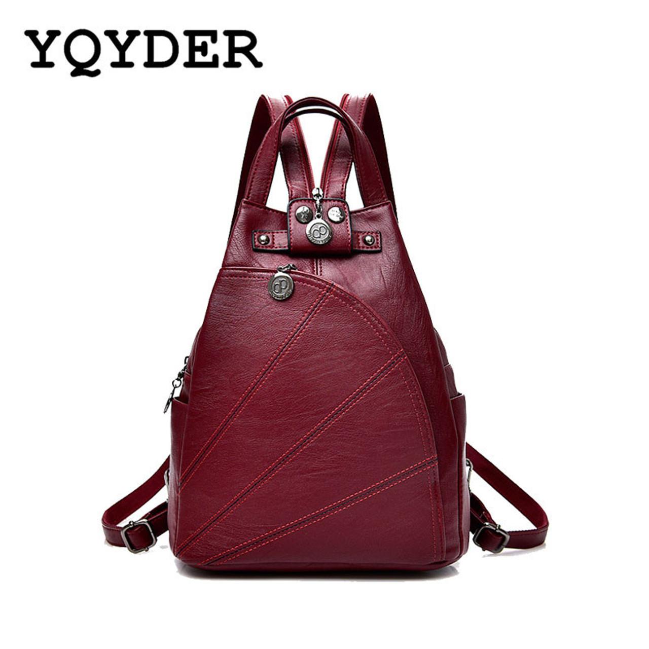 3e68100116 Fashion Leisure Women Backpacks Women s PU Leather Backpacks Female school  Shoulder bags for teenage girls Travel ...