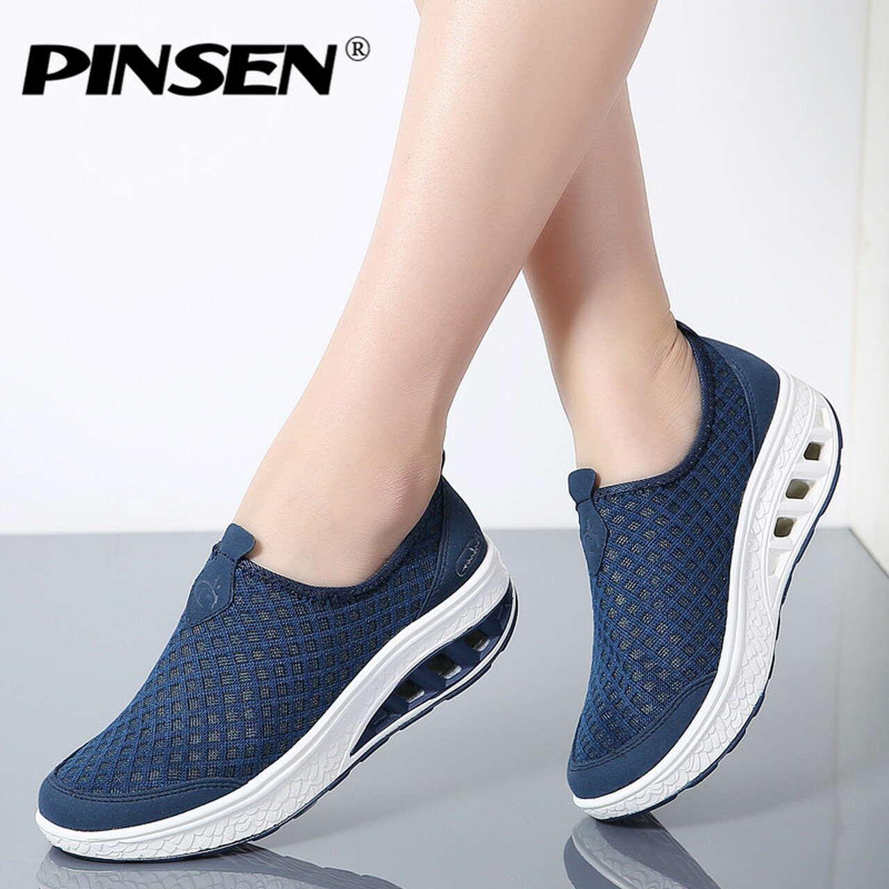 new lower prices well known top design PINSEN 2019 Summer Platform Women Sneakers Shoes Slip On Moccasins Shoes  Woman Thick Soled Ladies Shoes For Women Flats Creepers