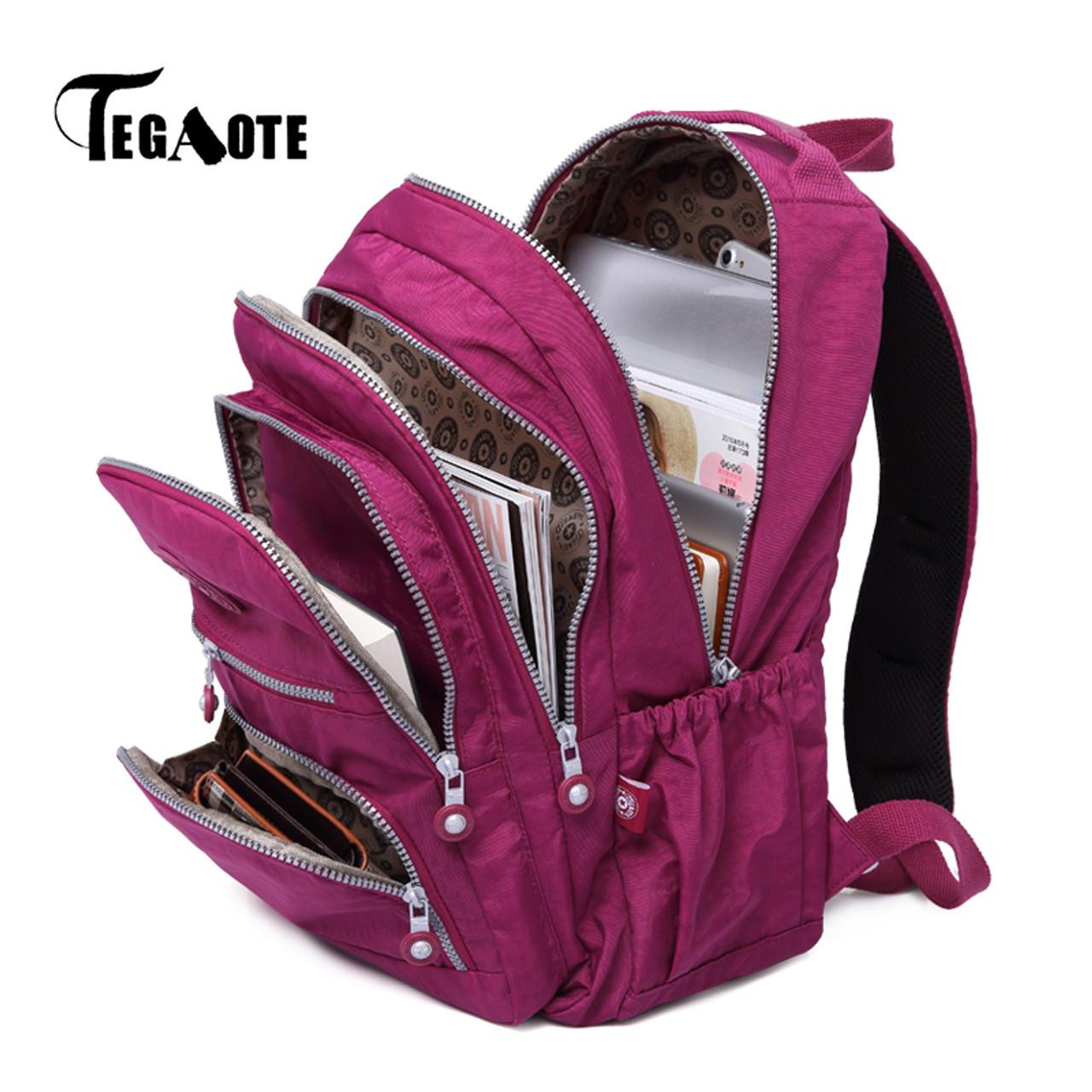 TEGAOTE School Backpack for Teenage Girls Mochila Feminina Escolar Women  Backpacks Nylon Casual Laptop Bagpack Female Sac A Dos - OnshopDeals.Com 5ac51ea576
