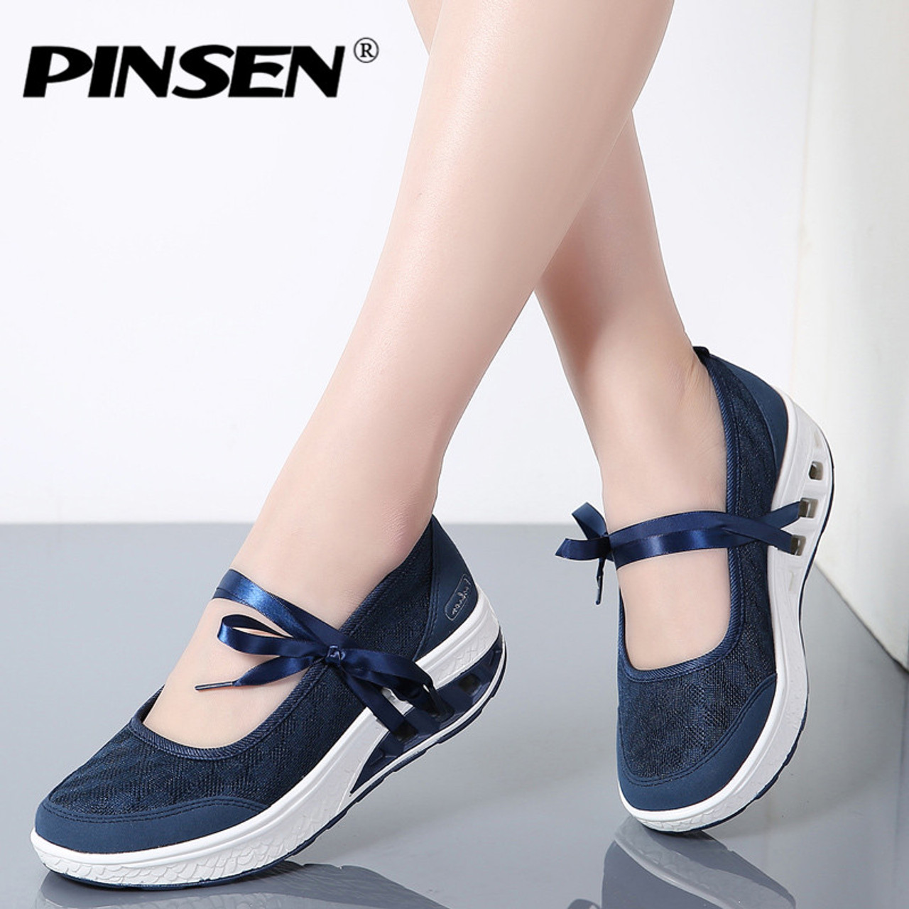 4b8278b39a8 PINSEN 2019 Sneakers Flat Platform Women Shoes Slip On Casual Ladies Flats  Loafers Shoes Woman Moccasins ...
