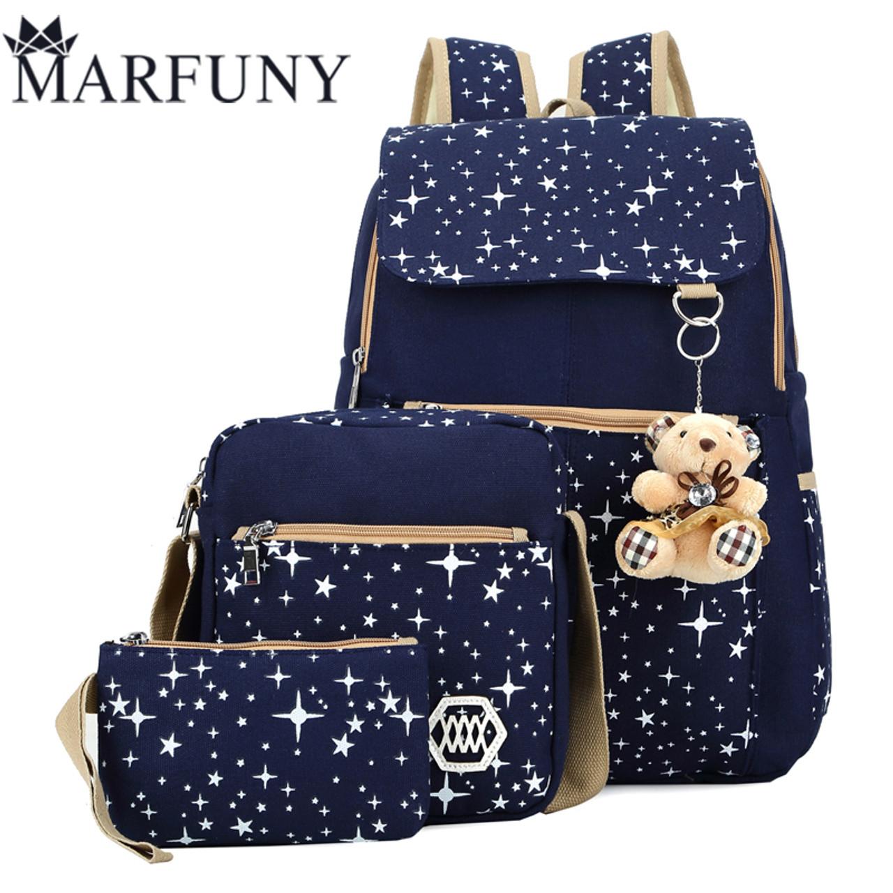 Fashion Composite Bag Preppy Style Backpacks For Teenage Girls High Quality  Canvas School Bags Cute Bear 3 Set Backpack Female - OnshopDeals.Com e4707f61ae