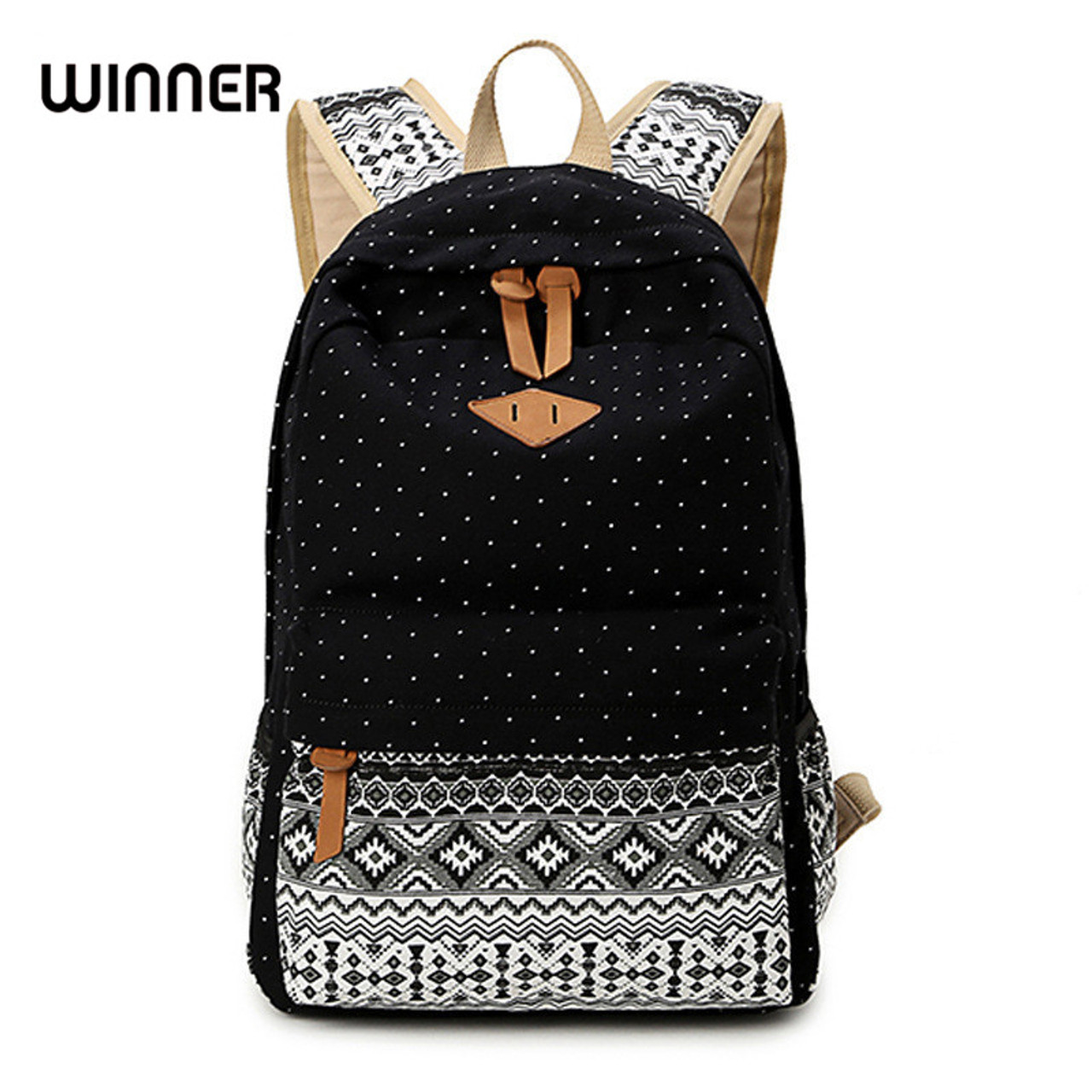 5f68ff1835 Canvas Printing Backpack Women School Backpacks Bag for Teenage Girls  Vintage Laptop Rucksack Bagpack Female Schoolbag ...