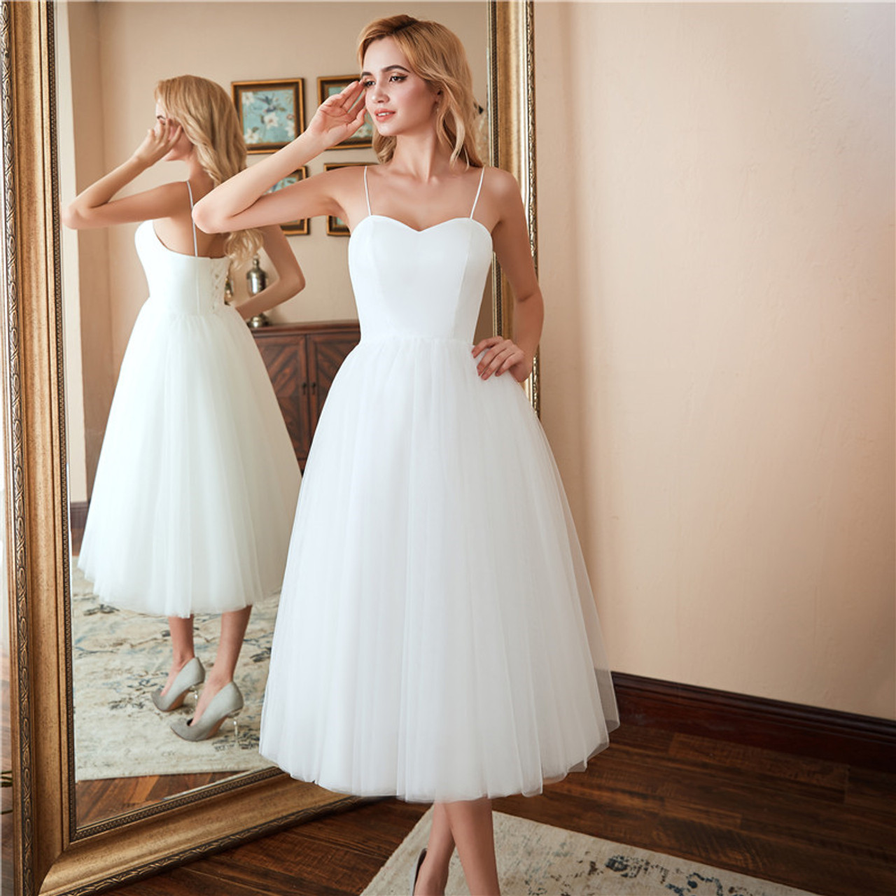 Short Beach Wedding Dresses New Vestido Noiva Praia Simple New White Real Photo Backless A Line Prom Party Bridal Gowns Onshopdeals Com,Long Sleeve Maxi Dresses For Weddings