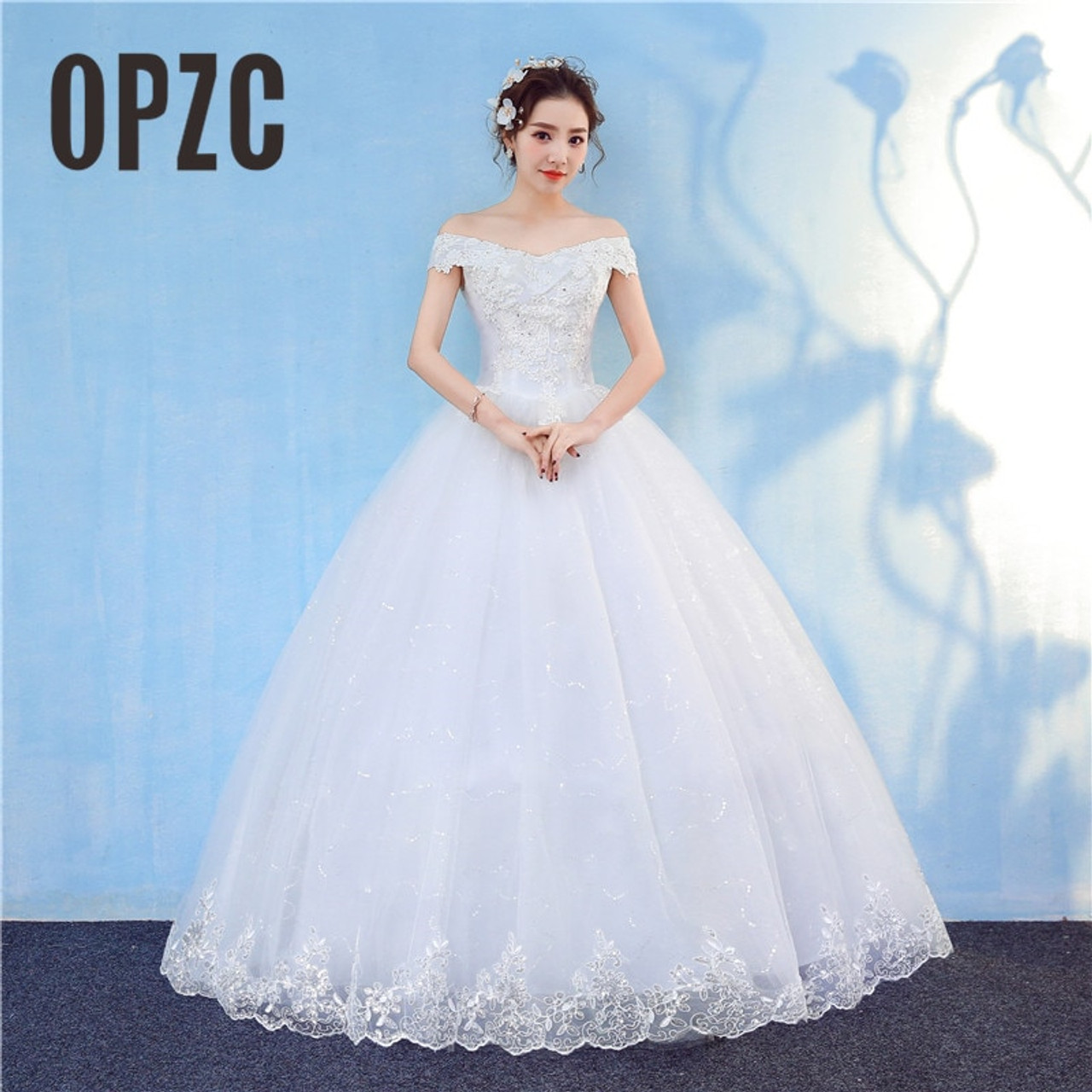 795b247a843c New Arrival 2018 Free Shipping Vintage Elegant Lace White Wedding Dresses  Boat Neck Plus Size Ball ...