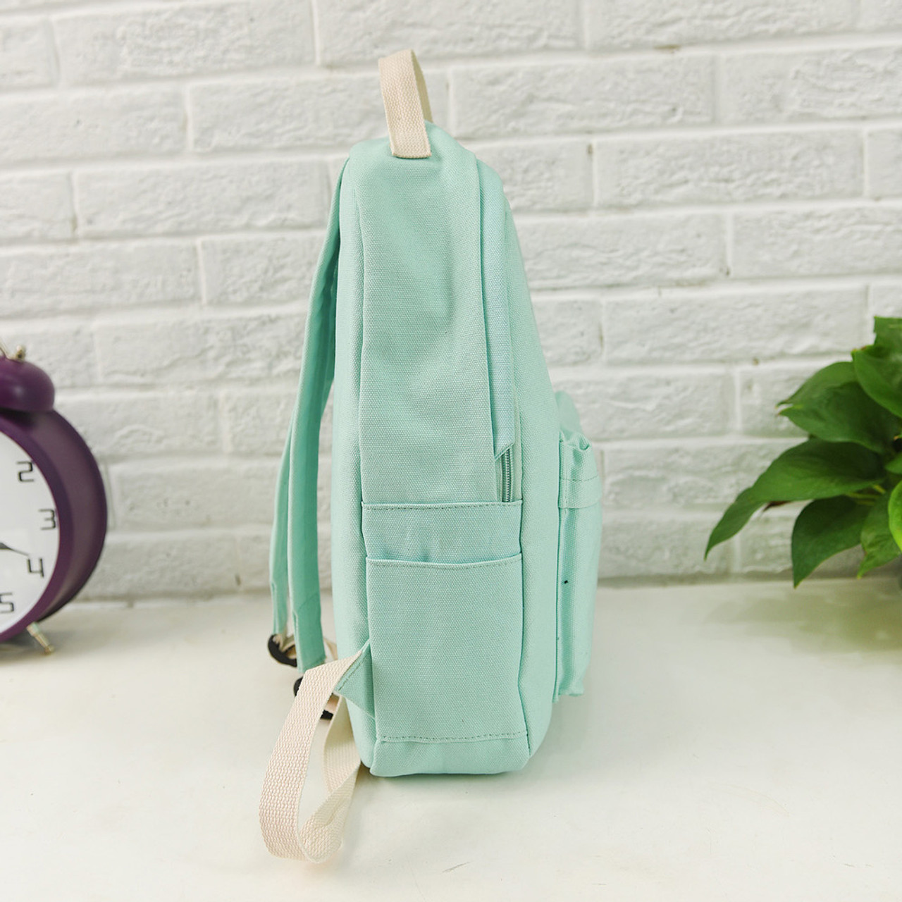 ... Women Backpack Cat Printing Canvas School Bags For Teenager Girls  Preppy Style 3 Set PC ... abc406d77e0ea