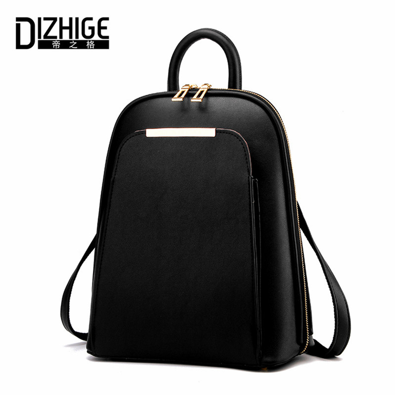 72858f8214b7 DIZHIGE Brand 2017 Solid High Quality PU Leather Backpack Women Designer  School Bags For Teenagers Girls ...