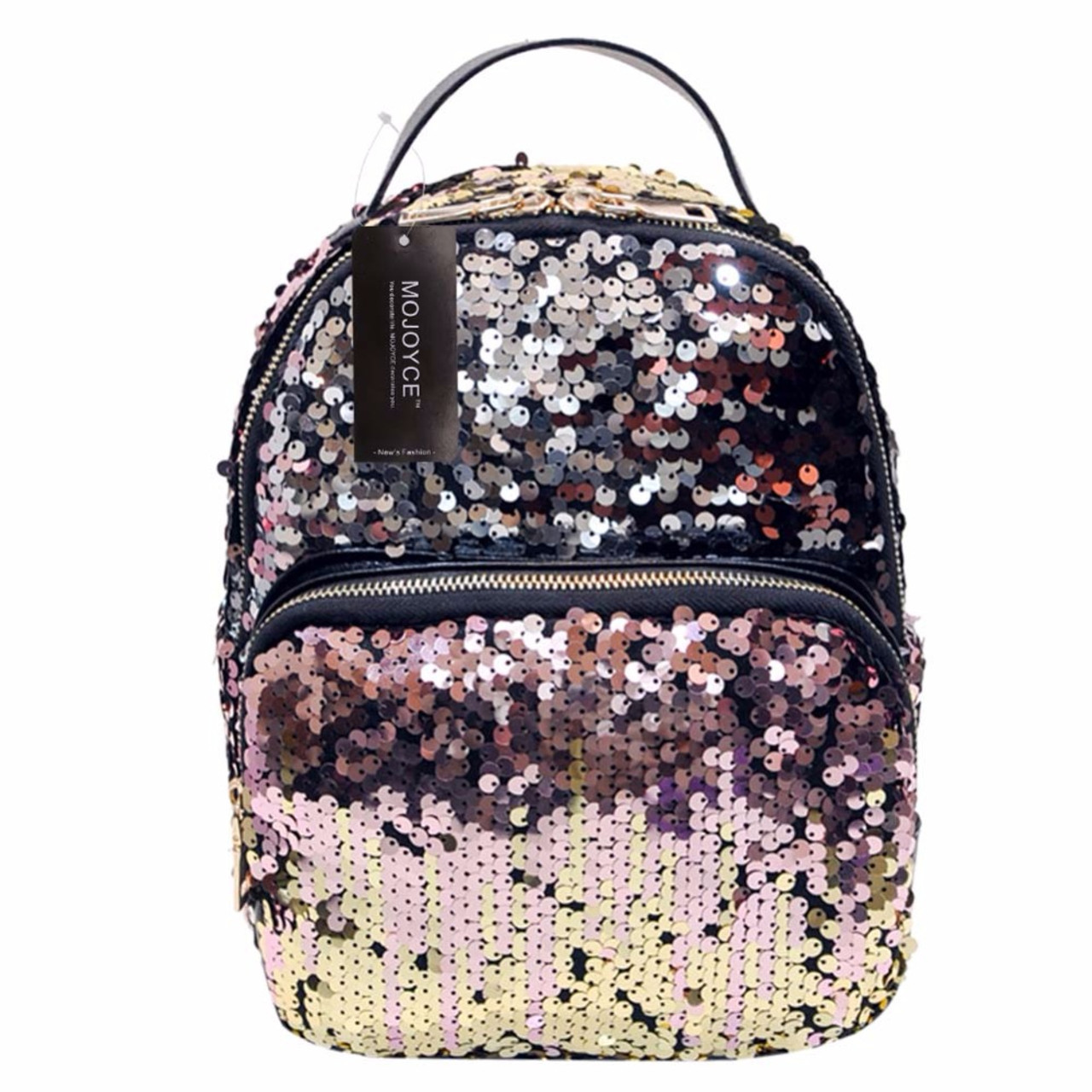 371a51bfd1 MOJOYCE New Arrival Women All-match Bag PU Leather Sequins Backpack Girls  Small Travel Princess ...