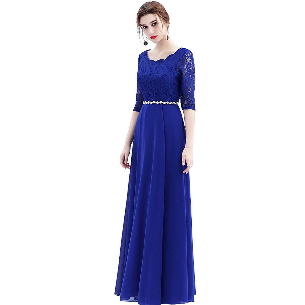 06fca68853d5 ... 2018 Custom Made Elegant Black Winter Evening Dresses Lace Half Sleeve  Robe De Soiree Long Vestido ...