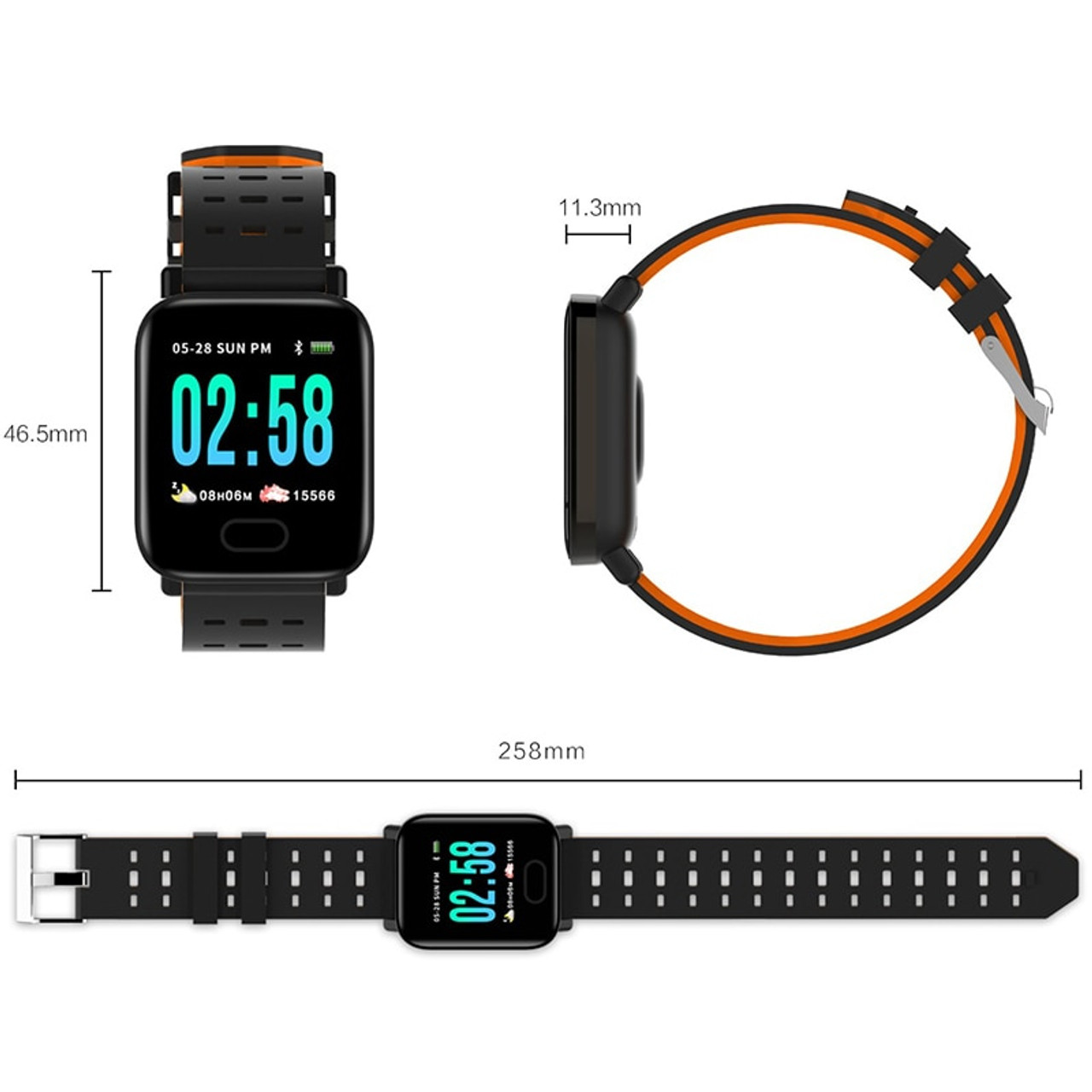 fa1c640c2b38 ... Reloj inteligente bluetooth bip smartwatch hombre relogio relojes  digital Heart rate monitoring smart watch message display ...