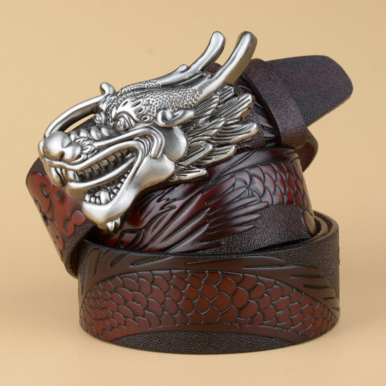 147605a763d64 ... New hot designer leather mens belt Real leather black belt men Cowskin  gold Dragon head Buckle ...