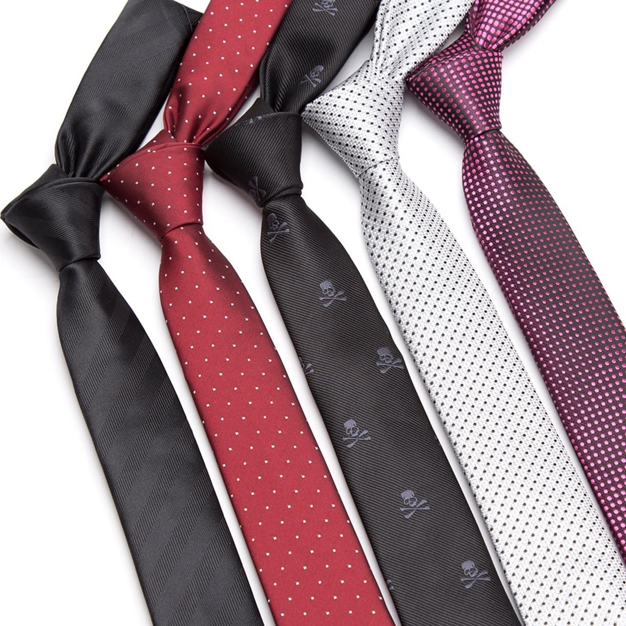 3fc545aa41c4 Men Tie fashion Mens 5cm Slim ties Striped lattice Neckties Gravata Jacquard  Bowtie man's Wedding dress ...