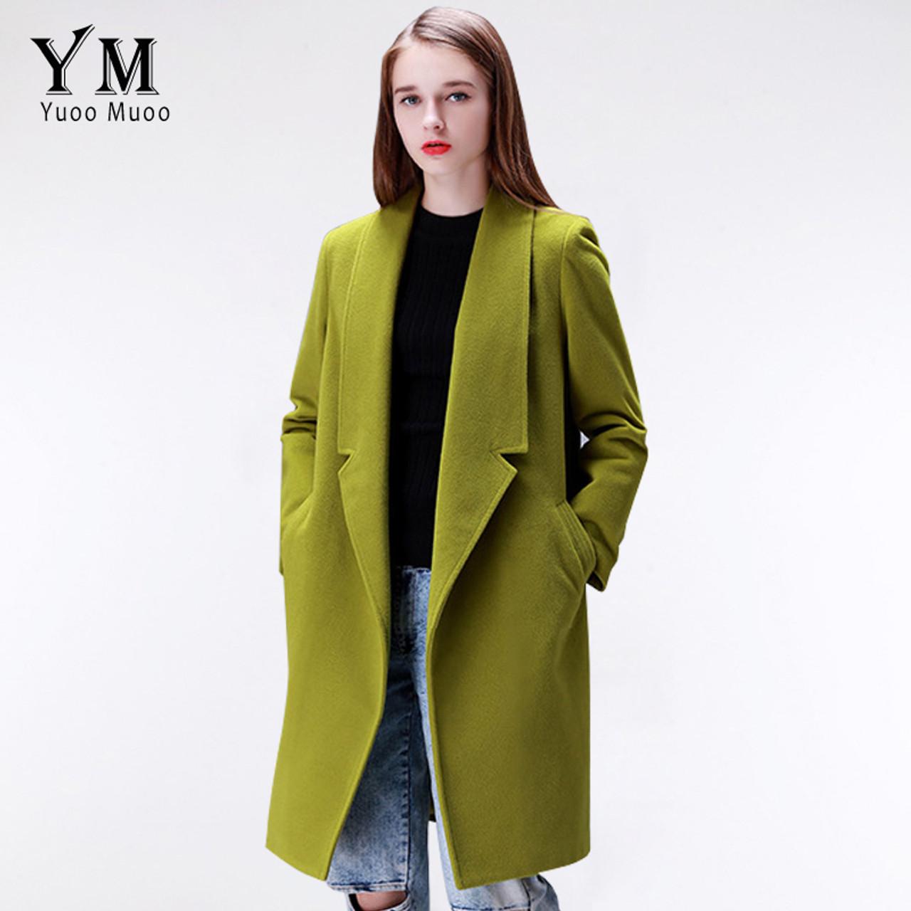 9d6b1a41d ... YuooMuoo Brand Design Winter Coat Women Warm Cotton-padded Wool Coat  Long Women s Cashmere Coat ...