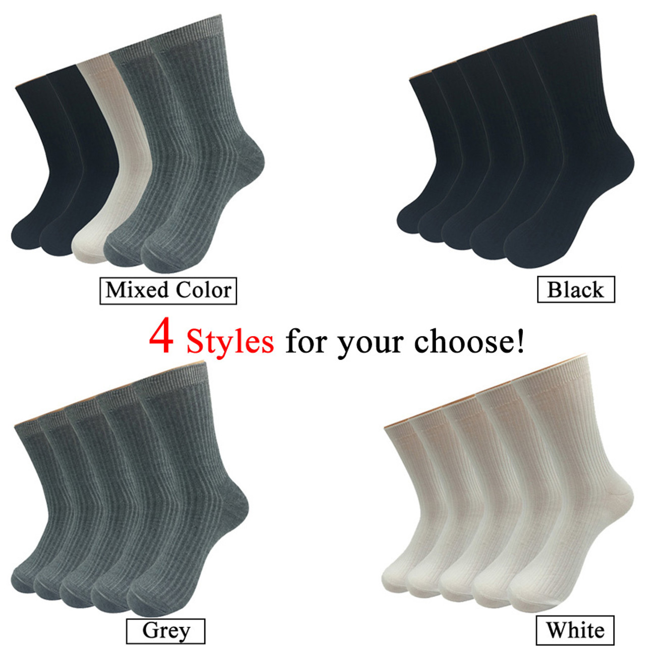 5 Pairs//Lot Black Women Cotton Short Ankle Boat Sports Socks with White Spots