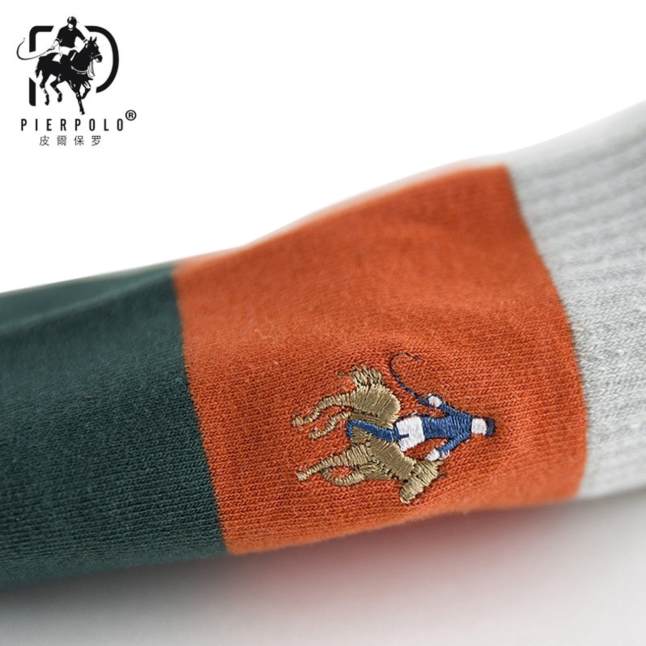 1e92a0cd9f65 ... High Quality Fashion Multicolor 5 Pairs Brand PIER POLO Casual Cotton  Socks Business Embroidery Men Socks ...