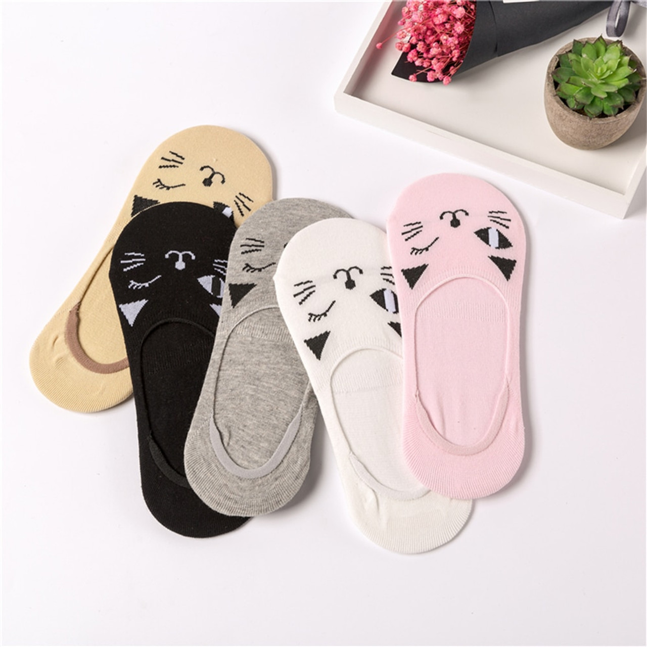 ea75e11ce ... Wholesale 5 pairs lot cute harajuku animal socks women summer korean  cat bear rabbit funny ...