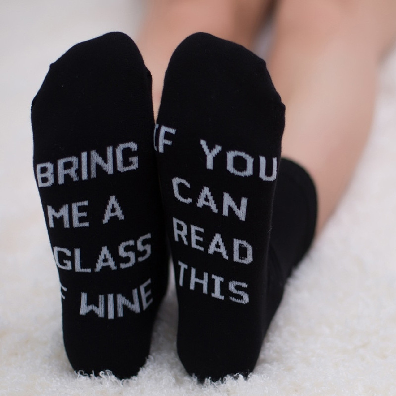 Women Men  Sock If You Can Read This Bring Me a Beer Funny  Socks