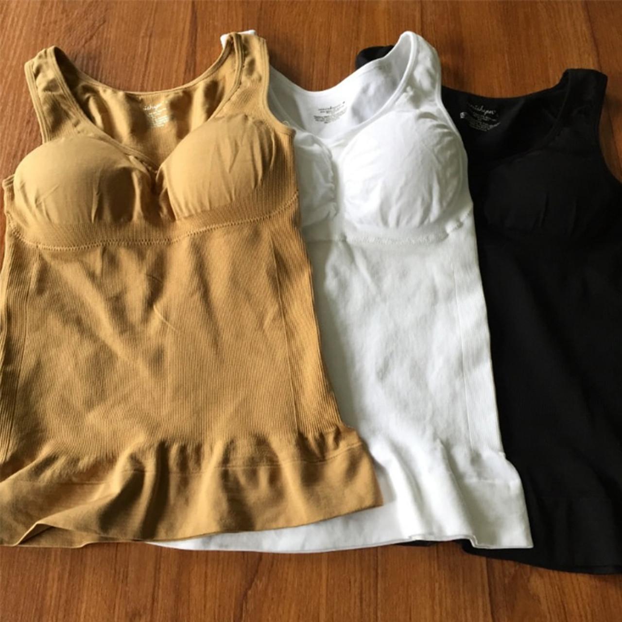 Women/'s Slimming Padded Plus Size Vest Bras Body Shaper Cami Tank Tops Shapewear