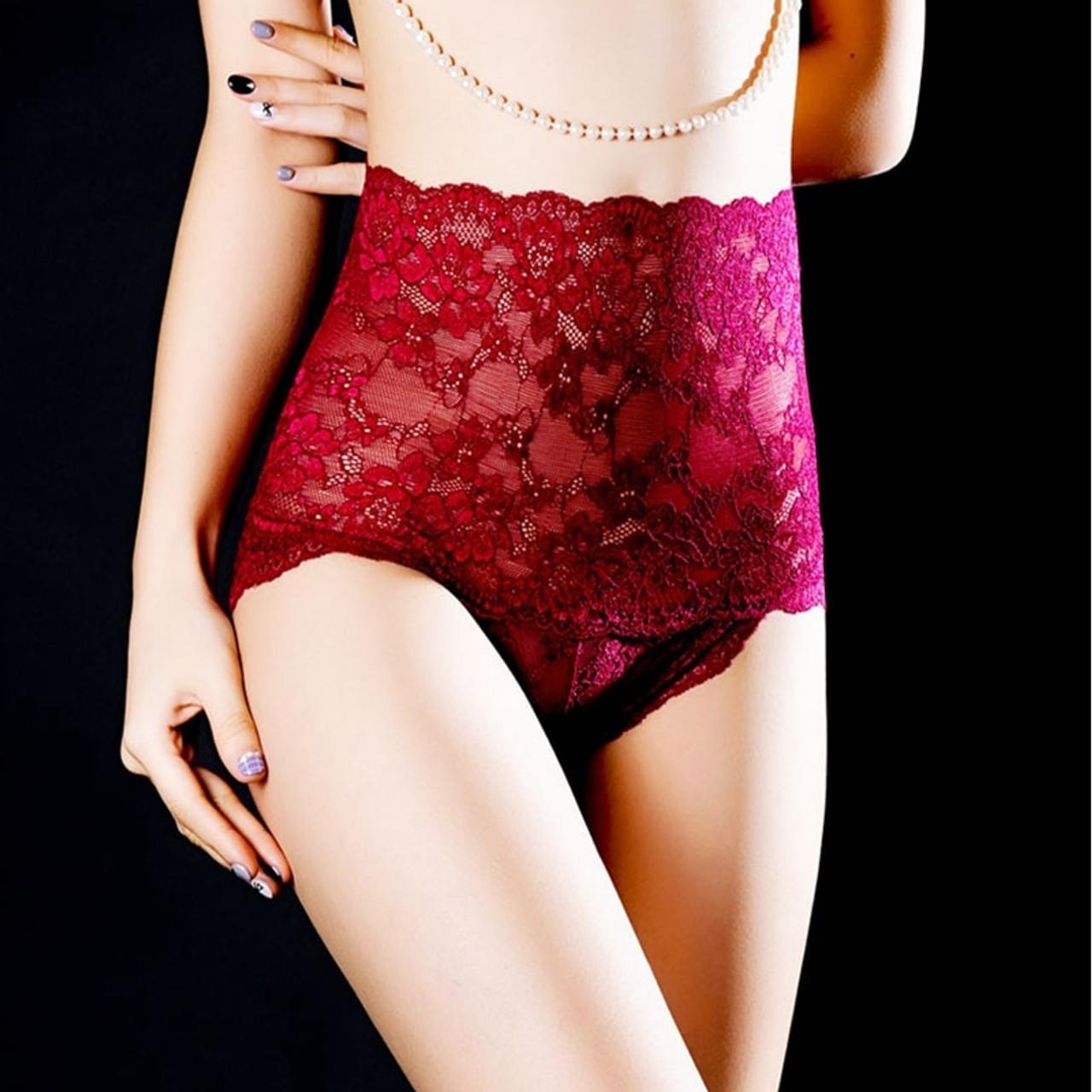 0ec40e3ae5d ... 1pc Plus Size Sexy Women Seamless Lace Underwear High Waist Ladies  Panties Briefs Girl Transparent Solid ...