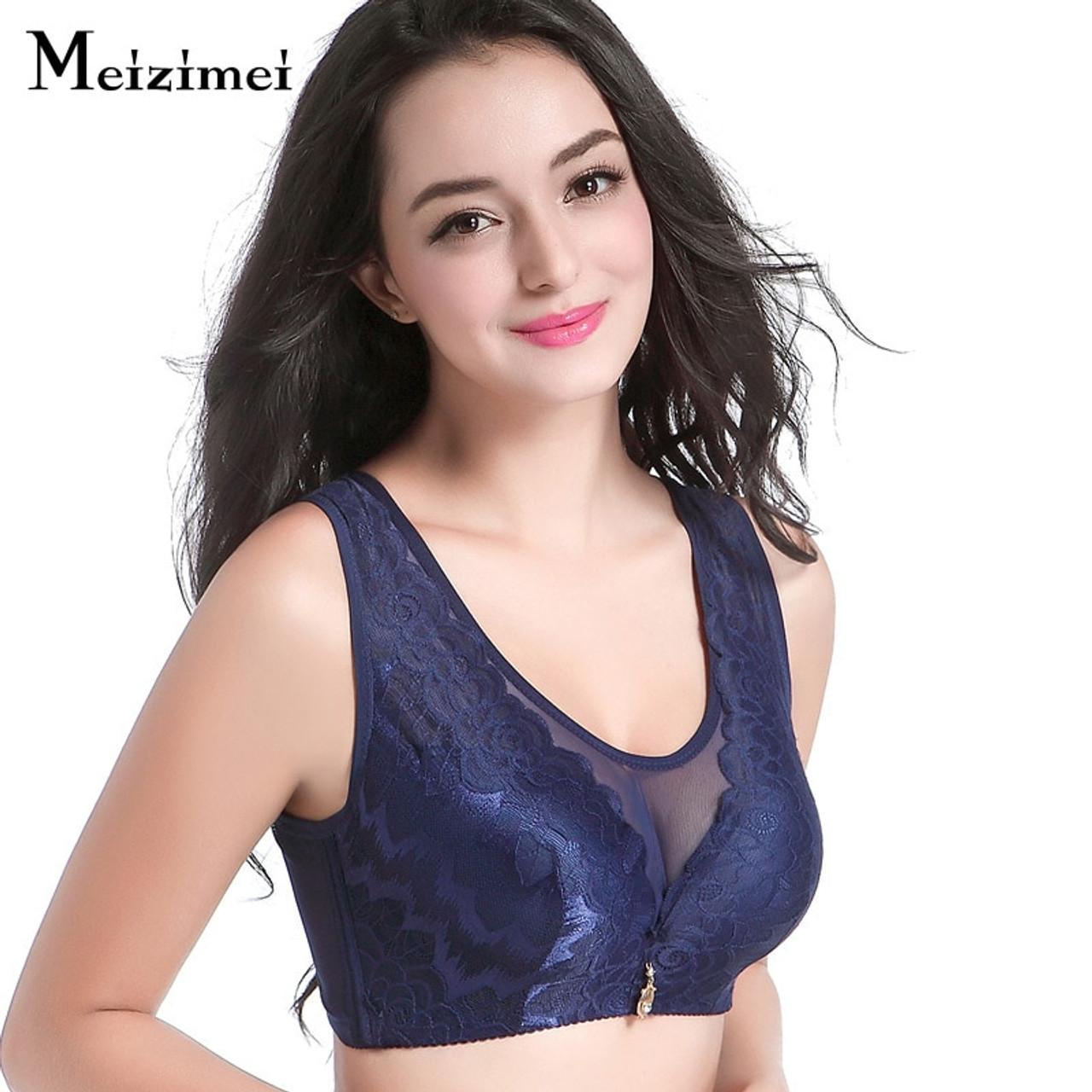 944f07c8cf010 ... Meizimei Hot sexy mesh lace bra crop tops big size underwear for women  brassiere wireless wide ...