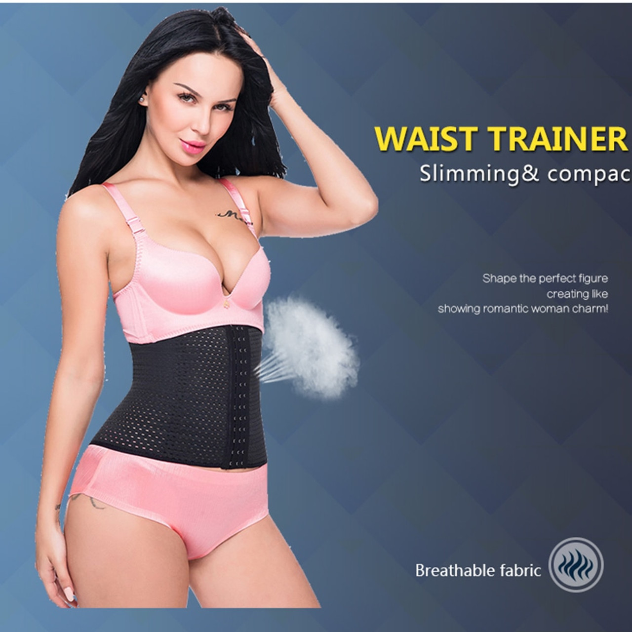 cab3899164 ... Miss Moly Waist trainer hot shapers waist trainer corset Slimming Belt Shaper  body shaper slimming modeling ...