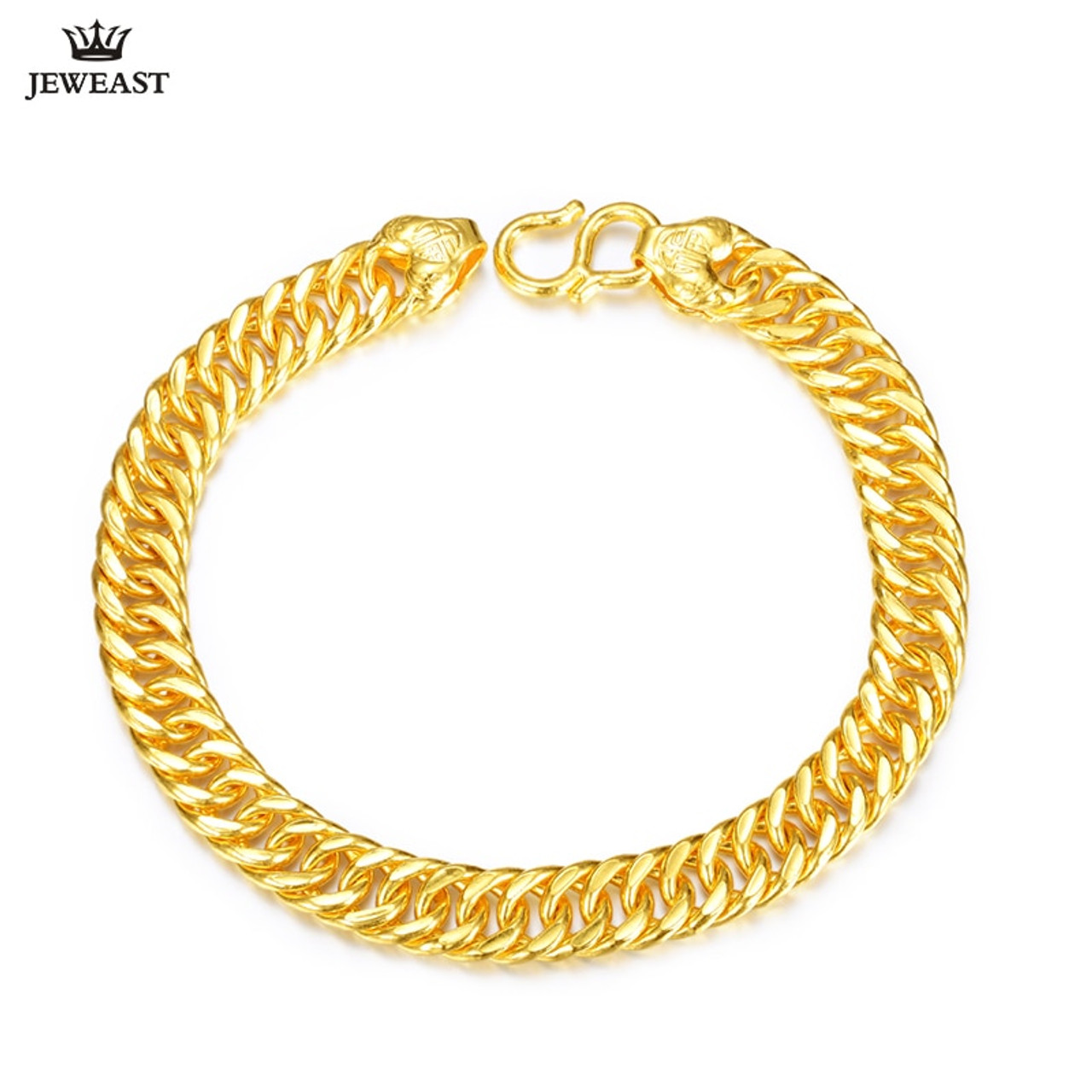 828fc485a ... 24K Pure Gold Bracelet Real 999 Solid Gold Bangle Generous Simple Fashion  Men's Trendy Classic Fine ...