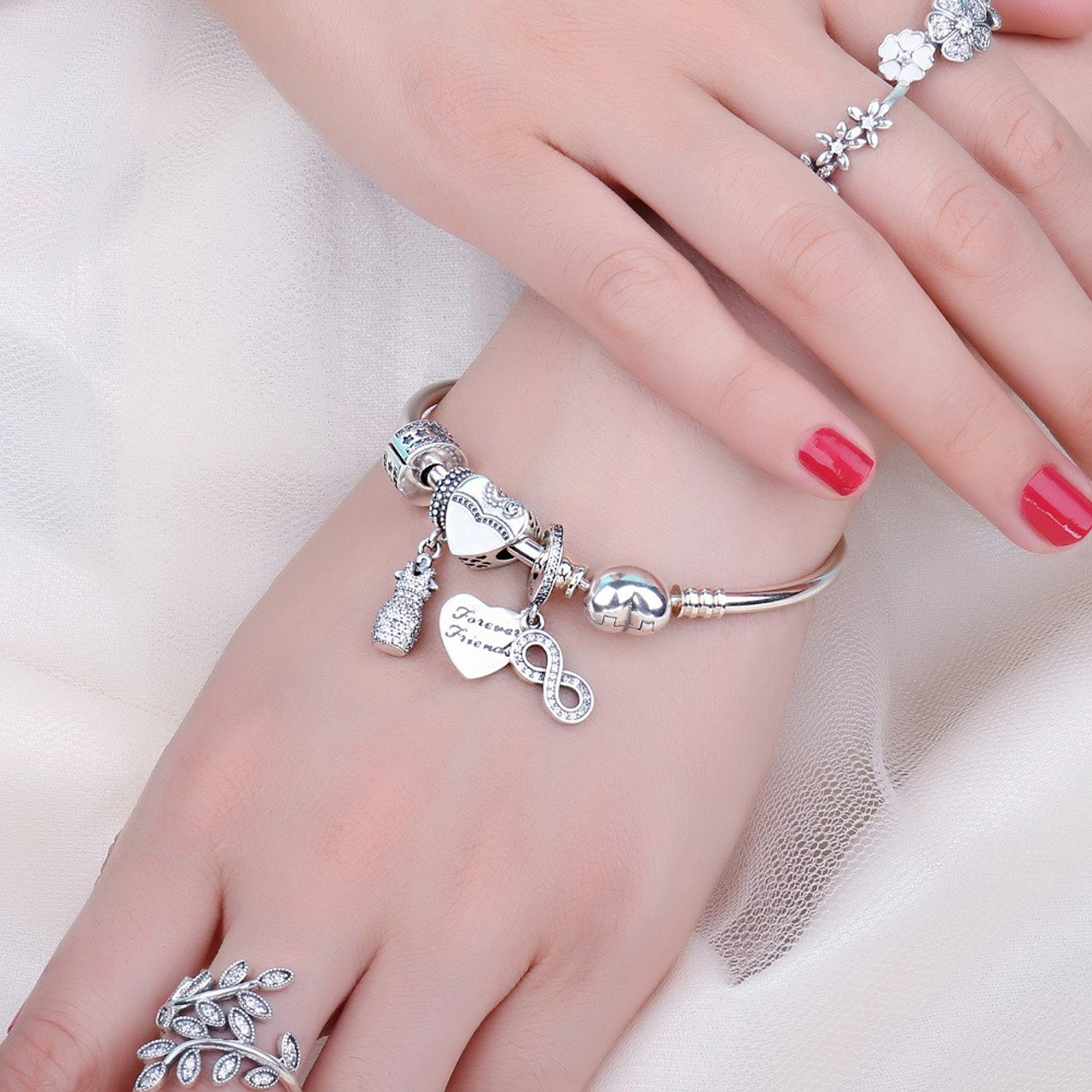 747ea57d9da9 ... Jewelrypalace 925 Sterling Silver Infinity Friendship Cubic Zirconia  Charm Bracelets Gifts For Women Trendy Jewelry Nice ...
