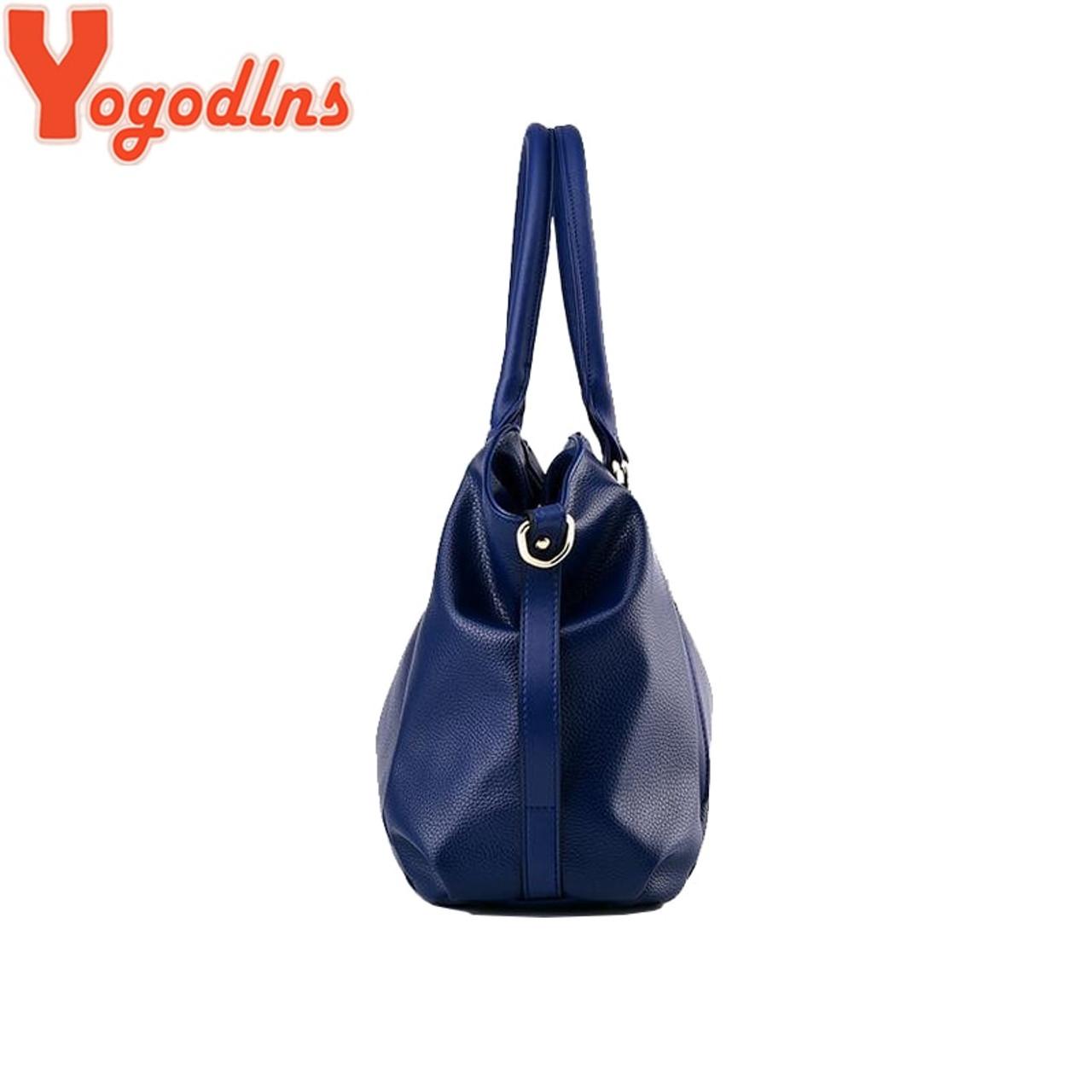 7ef78a1d2f1 ... Yogodlns Designer Women Handbag Female PU Leather Bags Handbags Ladies  Portable Shoulder Bag Office Ladies Hobos ...