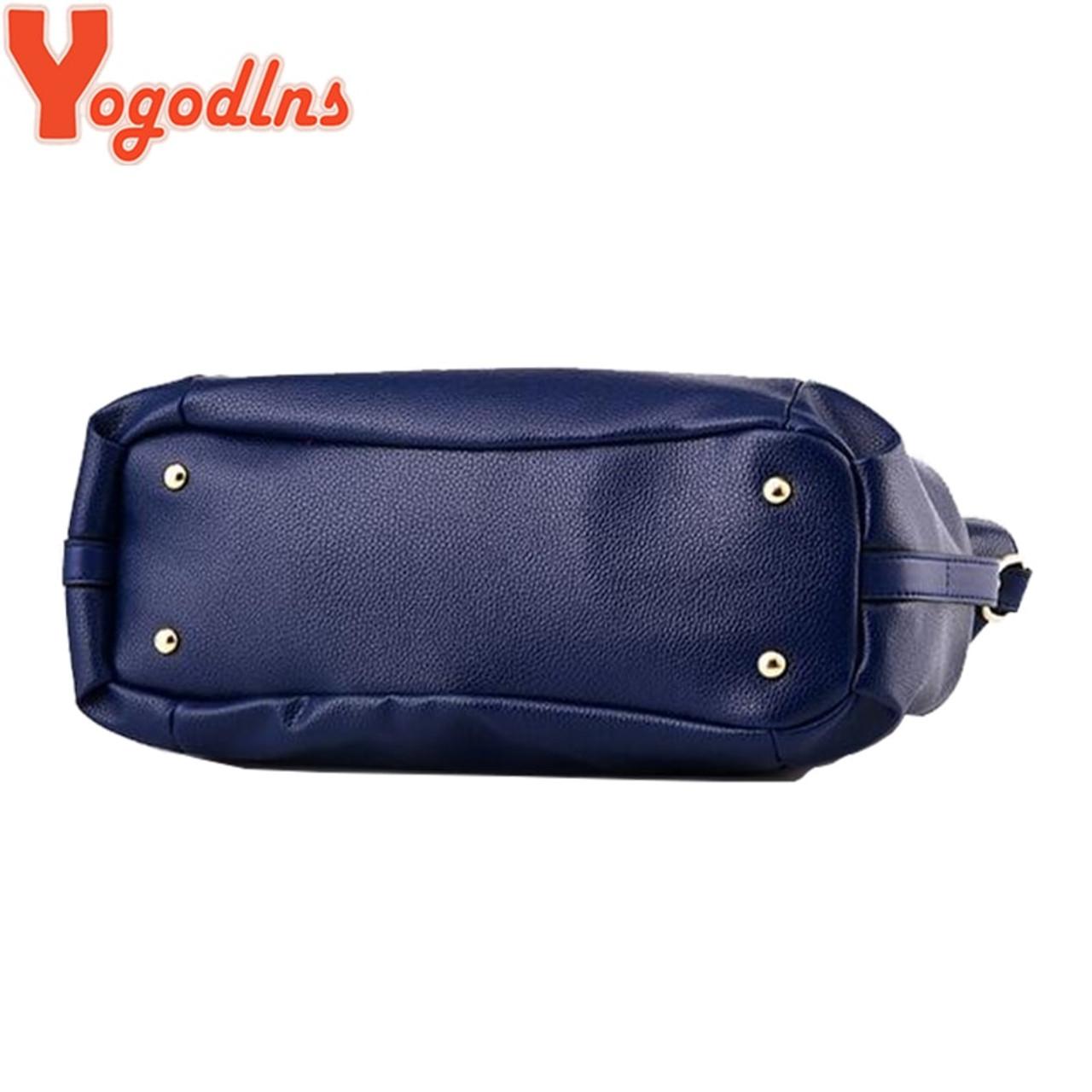 54c55ca05b3d ... Yogodlns Designer Women Handbag Female PU Leather Bags Handbags Ladies  Portable Shoulder Bag Office Ladies Hobos ...