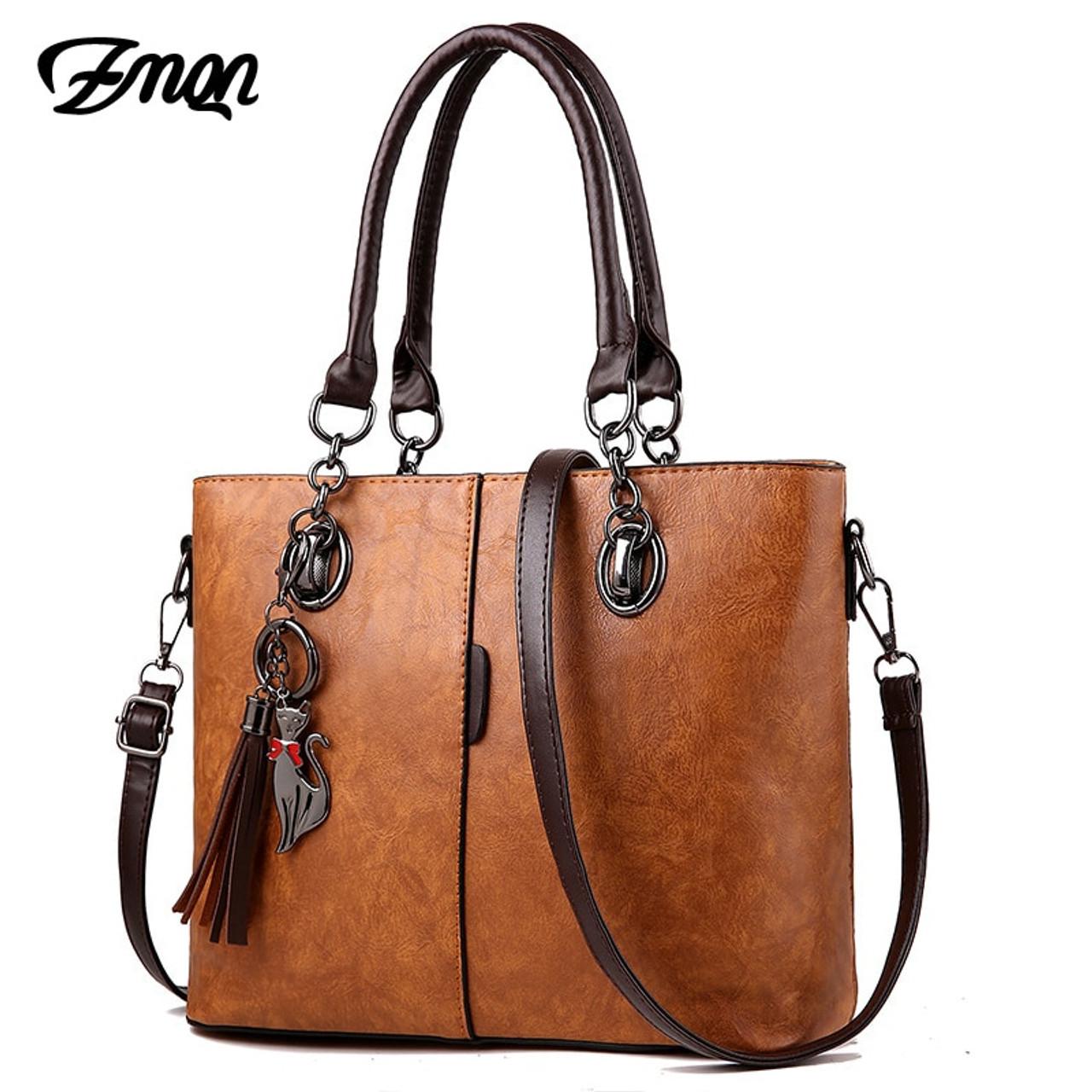 9f6f5c346fc ZMQN Luxury Handbags Women Bag Designer 2018 Big Ladies Hand Bag For Women  Solid Shoulder Bag Outlet Europe Leather Handbag C641