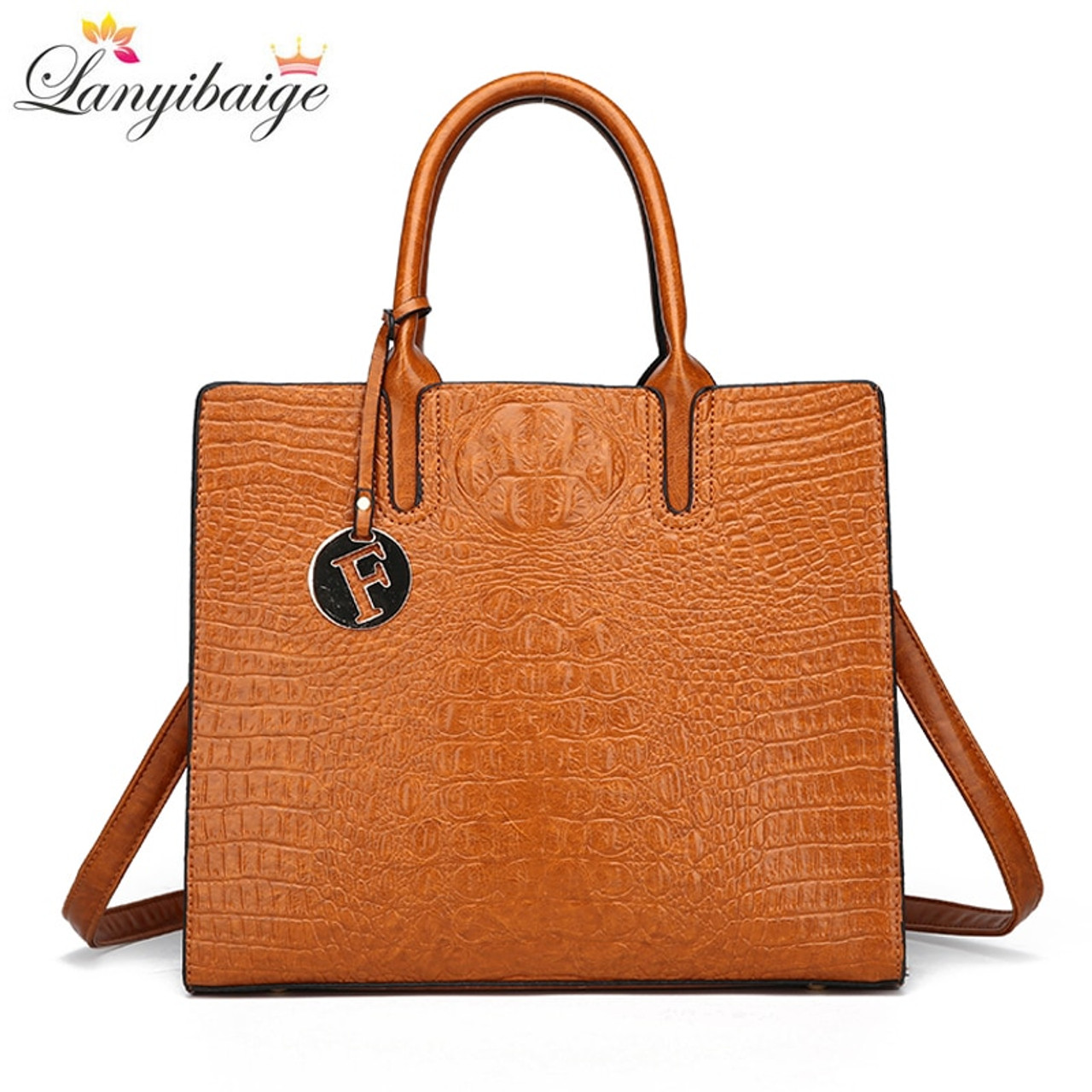 LANYIBAIGE 2018 Women Crocodile Pattern Handbag Designer Leather Large  Shoulder Bag Female Fashion Messenger Bag Totes Bolsas - OnshopDeals.Com 292b7366f127d