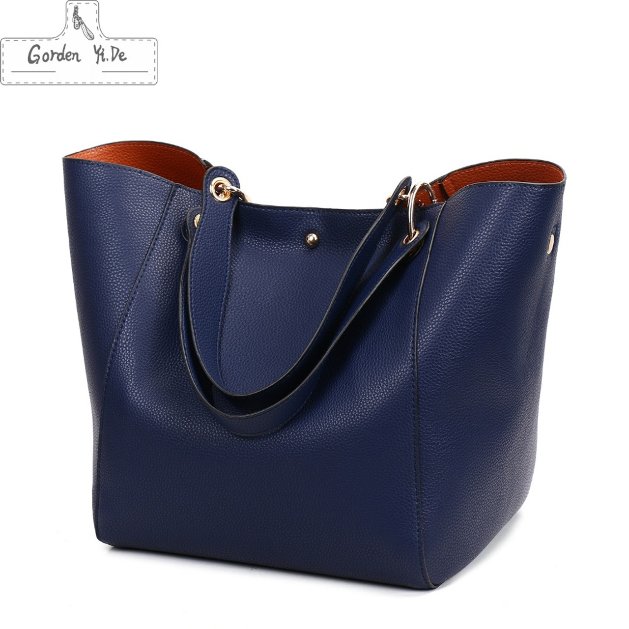 ... Genuine leather Women handbags 2019 New Design Women Bucket Bags  Vintage Large Female Shoulder Bags bolsa ... 67562386f8770