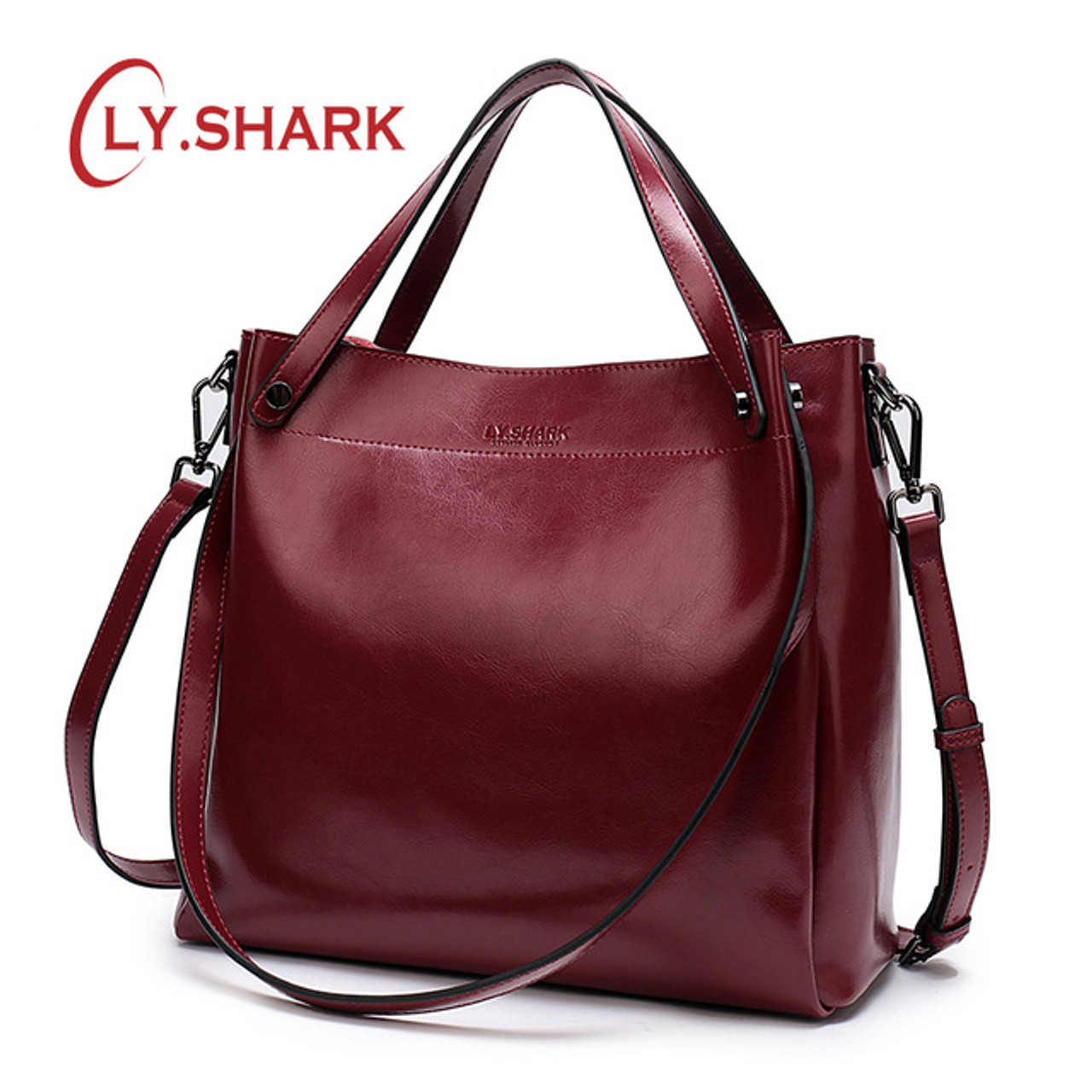 6a57c998b5 SHARK Female Bag Ladies Genuine Leather Bags For Women 2019 Crossbody  Messenger Bag Women ...