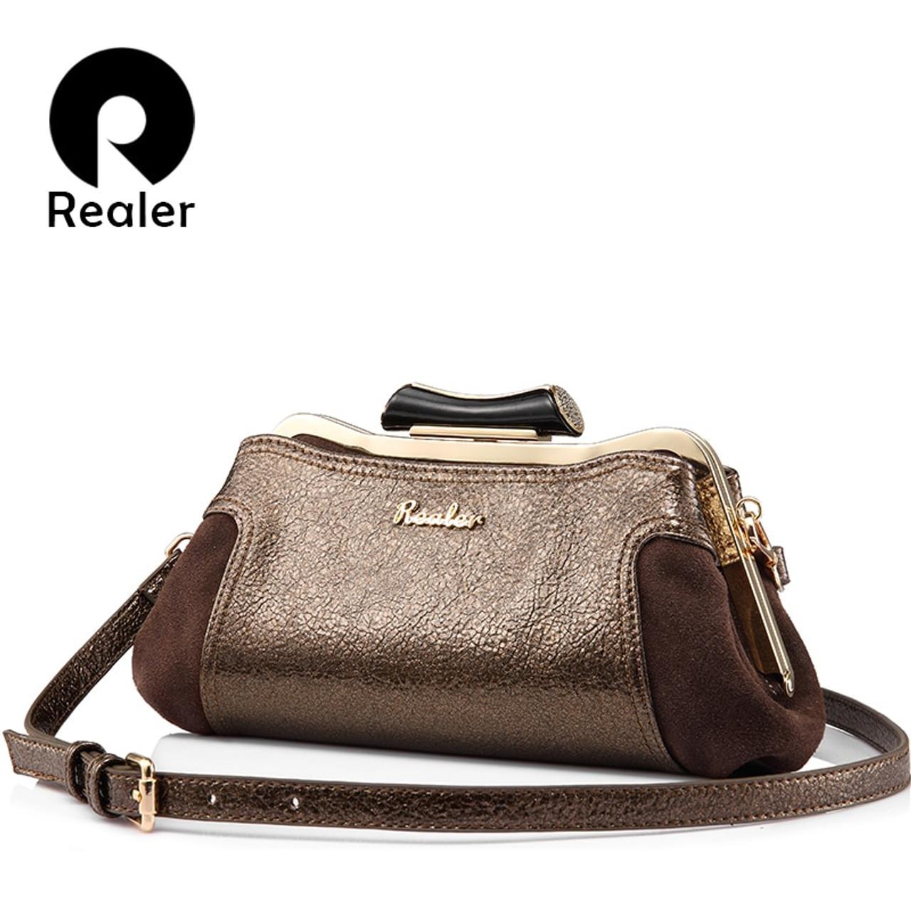 a046562f858e REALER women messenger bags small clutch high quality PU leather ladies shoulder  crossbody bag fashion retro evening bag female - OnshopDeals.Com