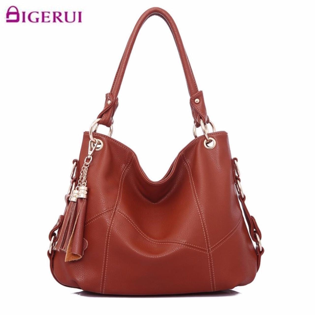 56a8af03d23e New Genuine Leather Tassel Handbag Women Messenger Bags Ladies Handbags  Women Shoulder Crossbody Bags Bolsa Feminina A119