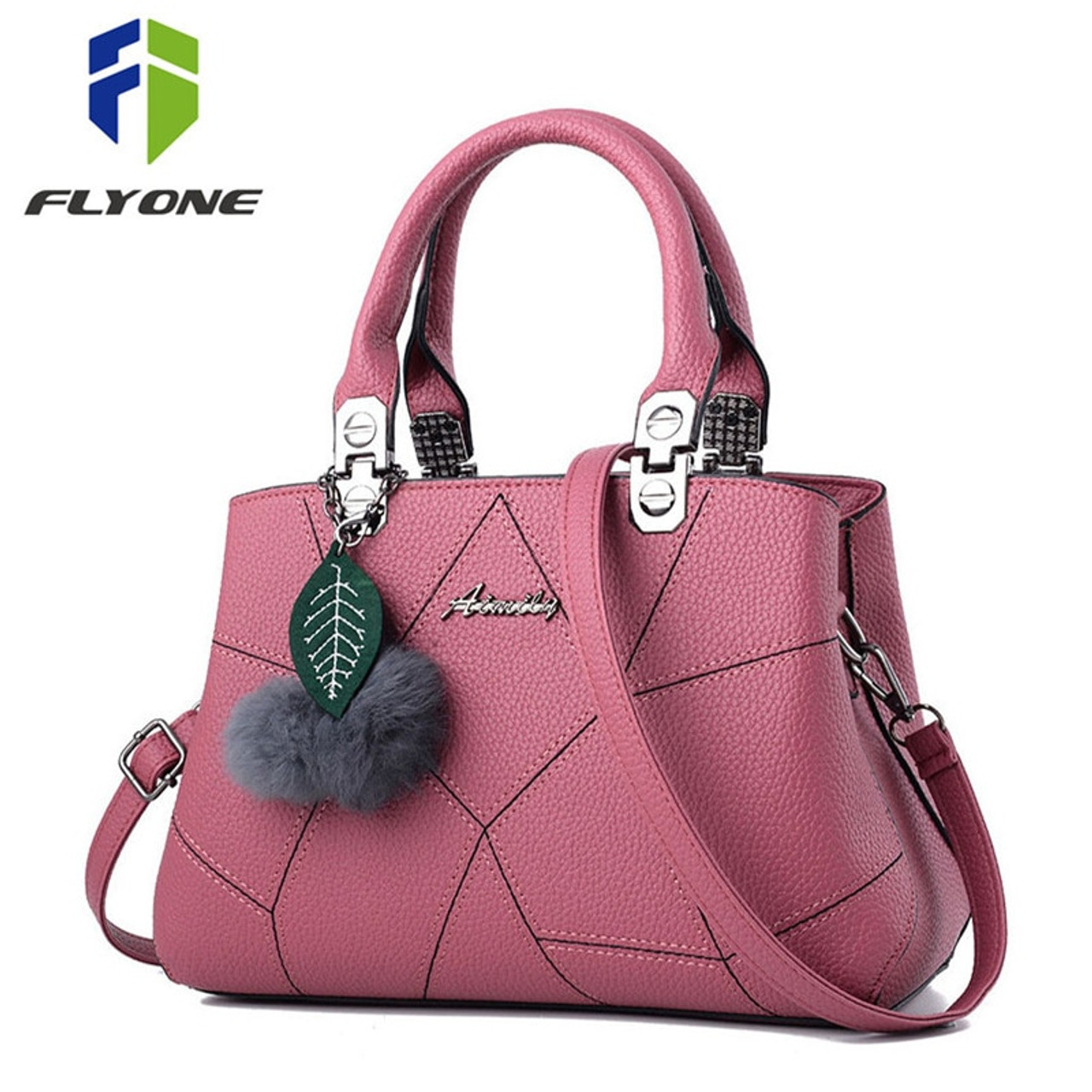 34fbe34763 New Sale PU Leather Women Handbags with Fur Top-Handle Women Bag Purse  Ladies Shoulder ...