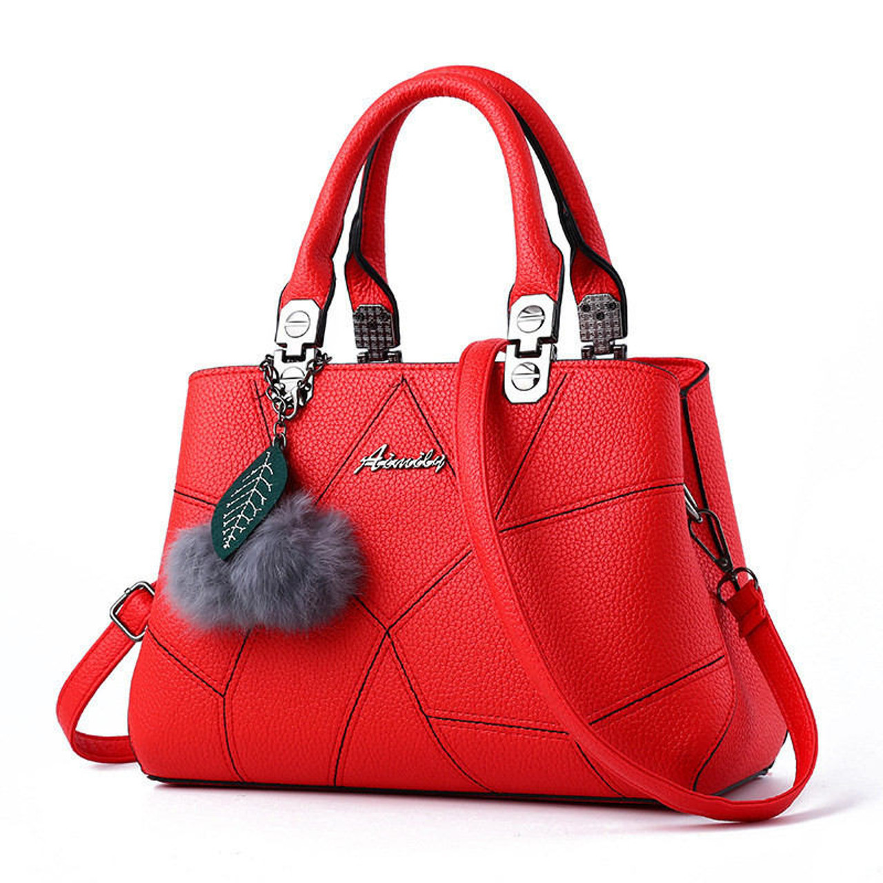 15bec7c39a ... New Sale PU Leather Women Handbags with Fur Top-Handle Women Bag Purse  Ladies Shoulder ...